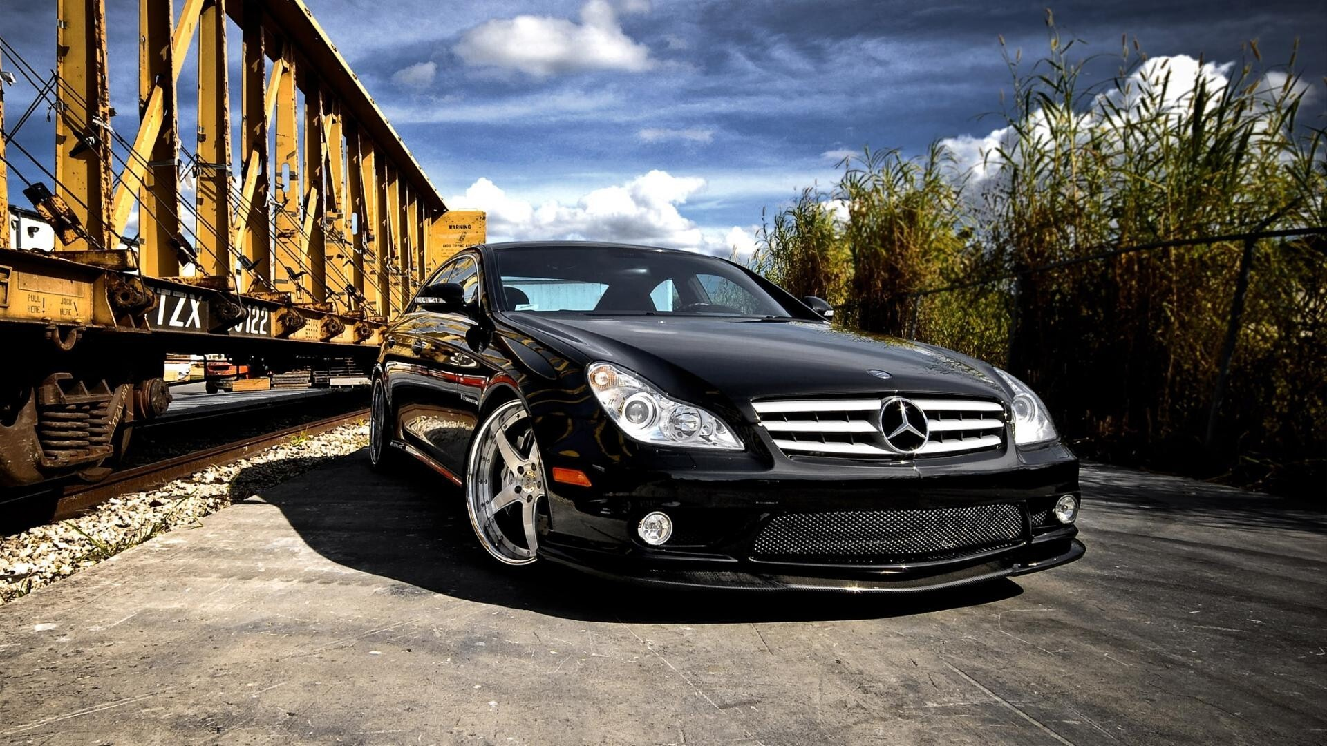 Black Mercedes Benz Cls Hd Car Wallpapers Hd Wallpapers