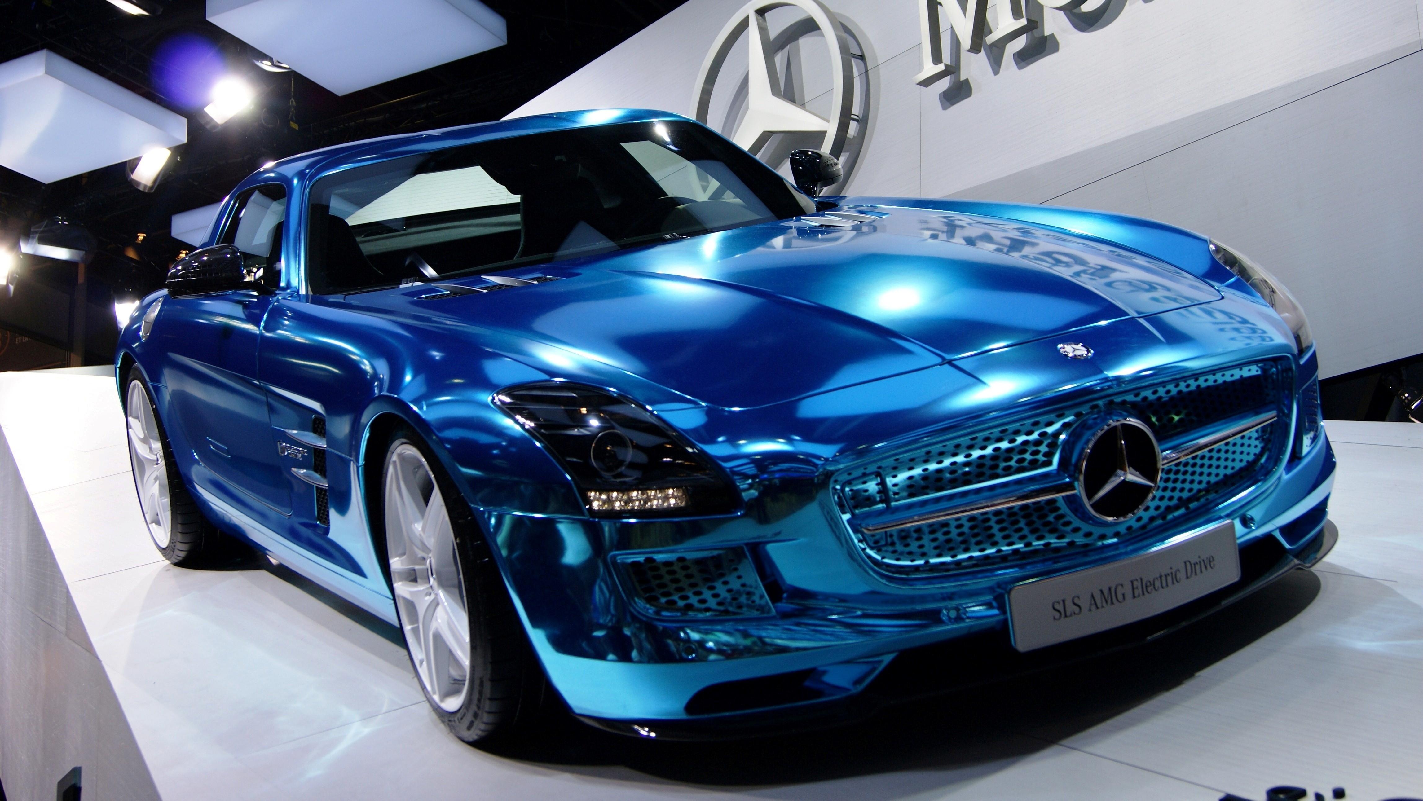 Mercedes Sls L108 Blue Edition Car Wallpapers Hd Wallpapers