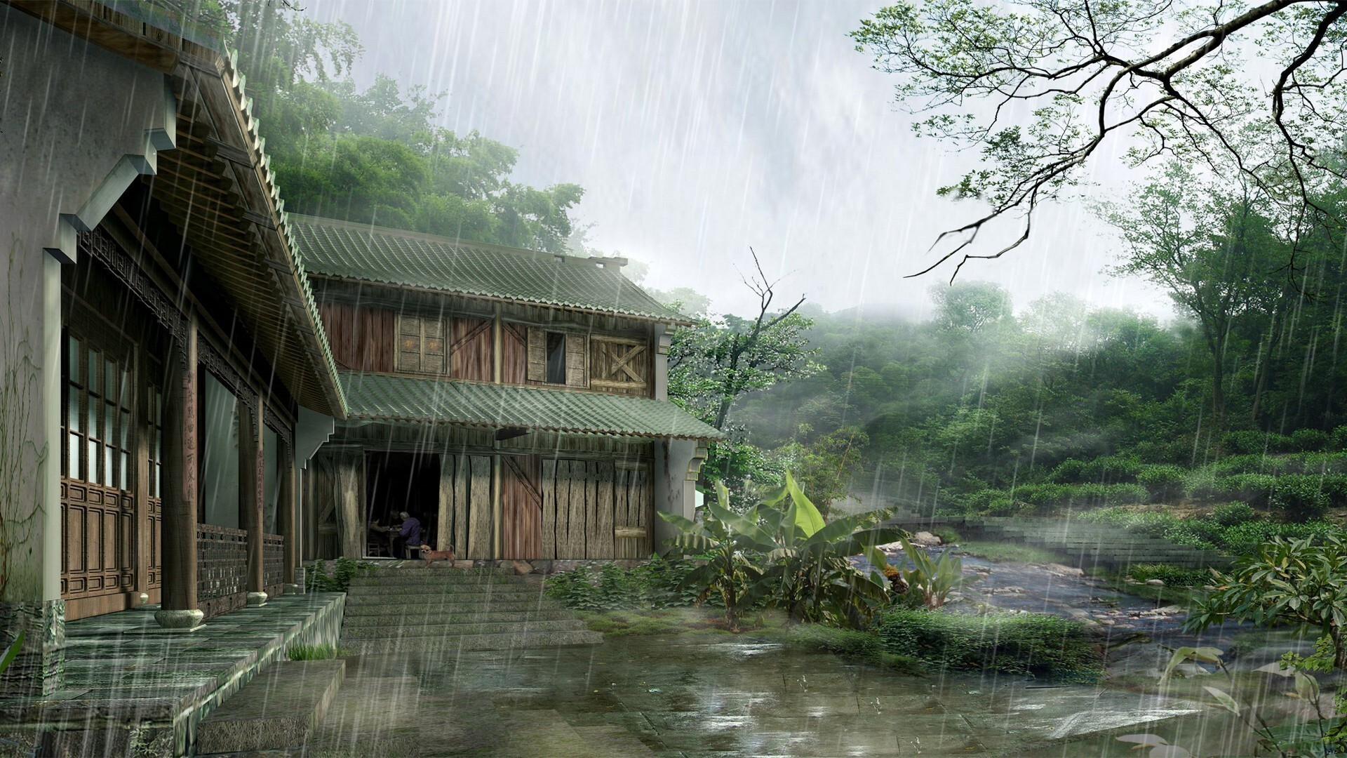 Beautiful rain at home hd wallpapers for Nice home wallpaper