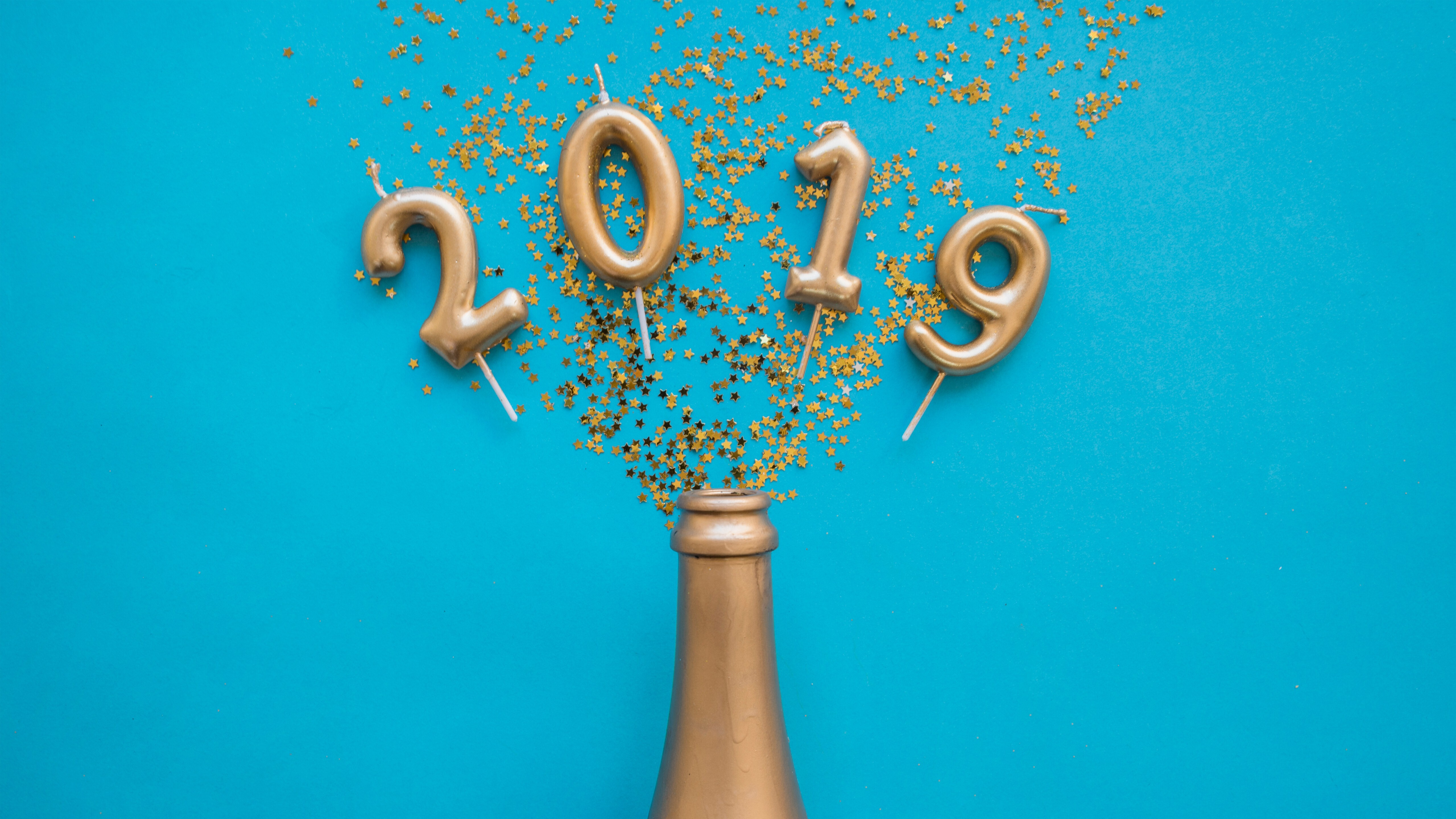 5K Wallpaper of 2019 New Year Wallpaper | HD Wallpapers