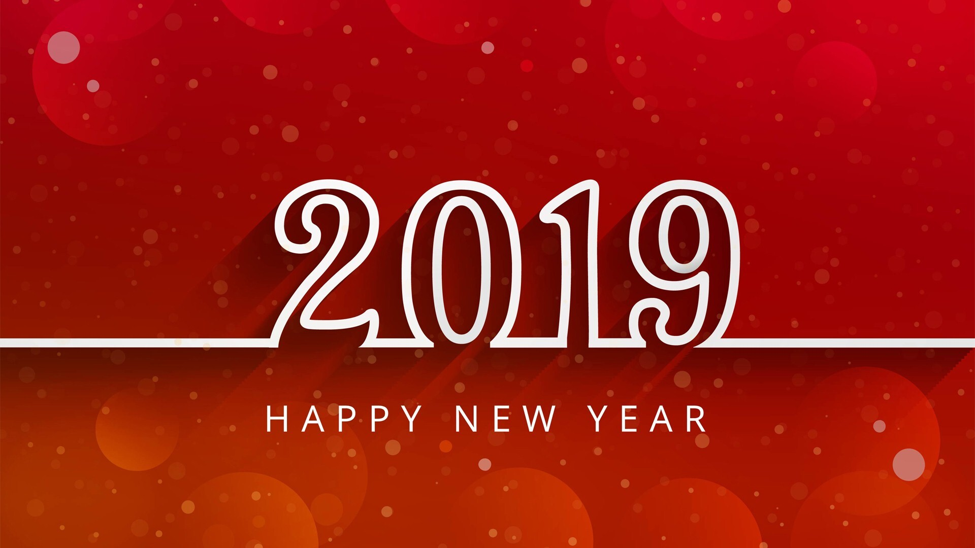 Beautiful New Year 2019 Red Hd Wallpaper Hd Wallpapers