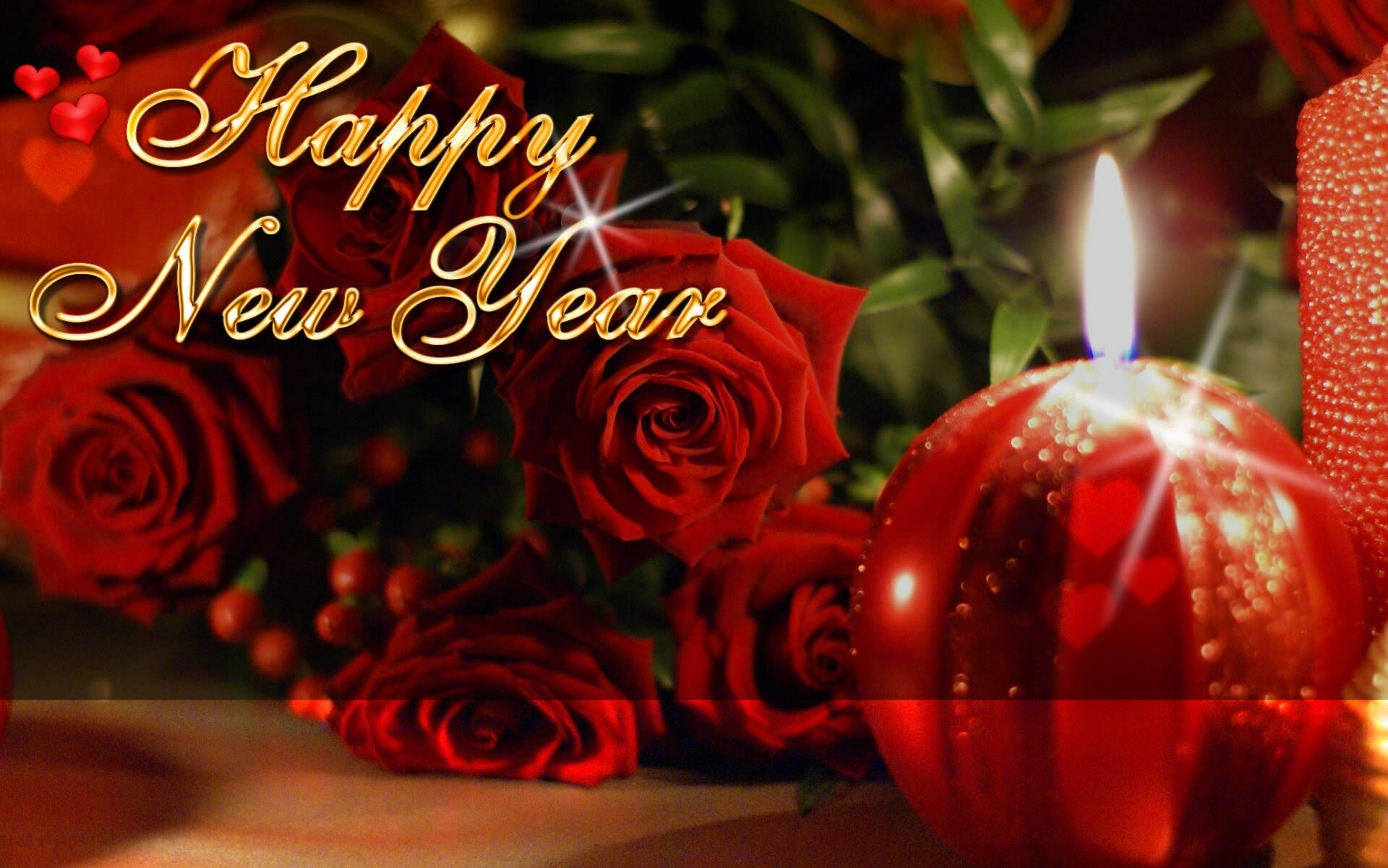 happy new year red rose hd wallpapers