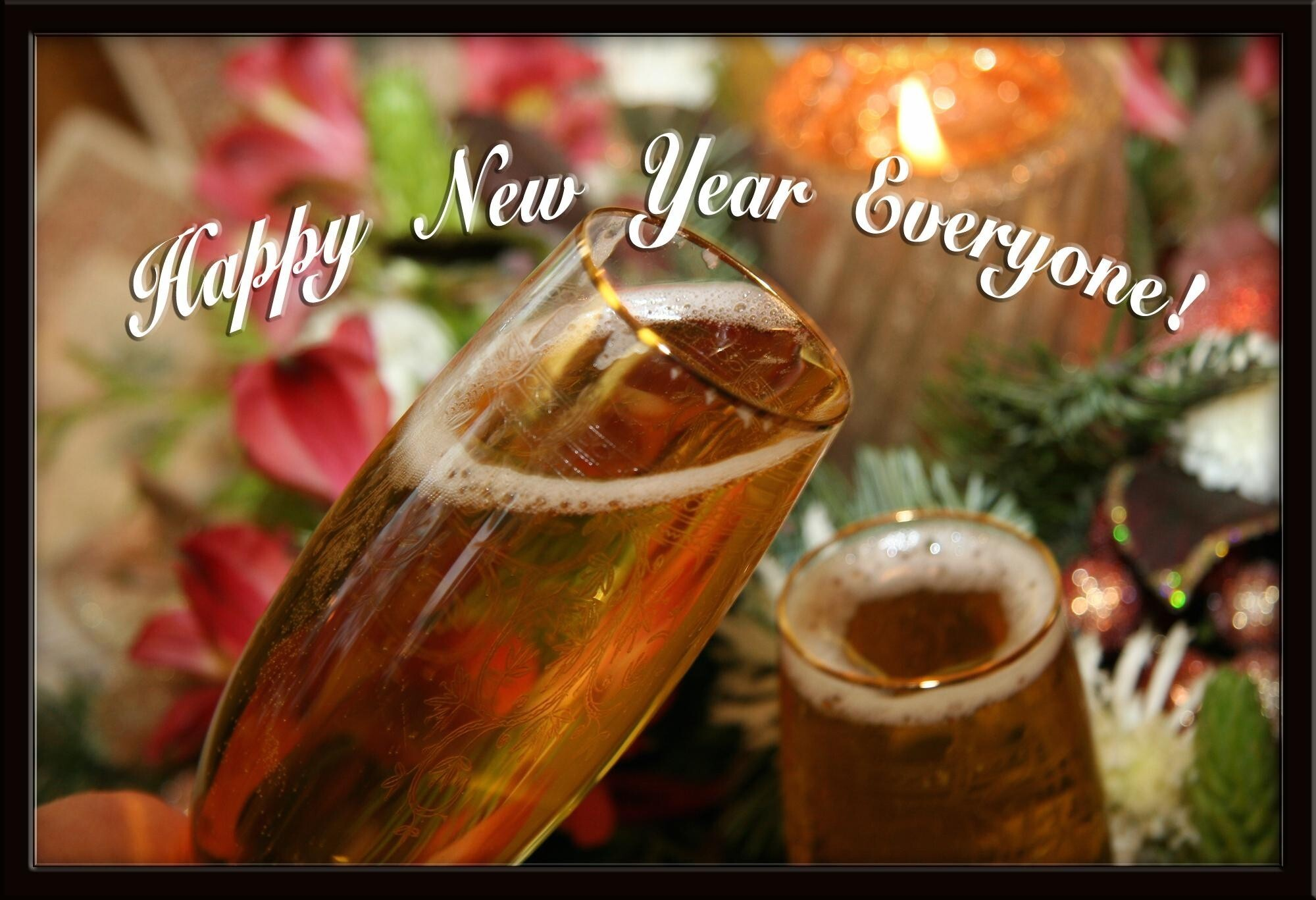 happy new year to everyone celebration drink hd wallpapers