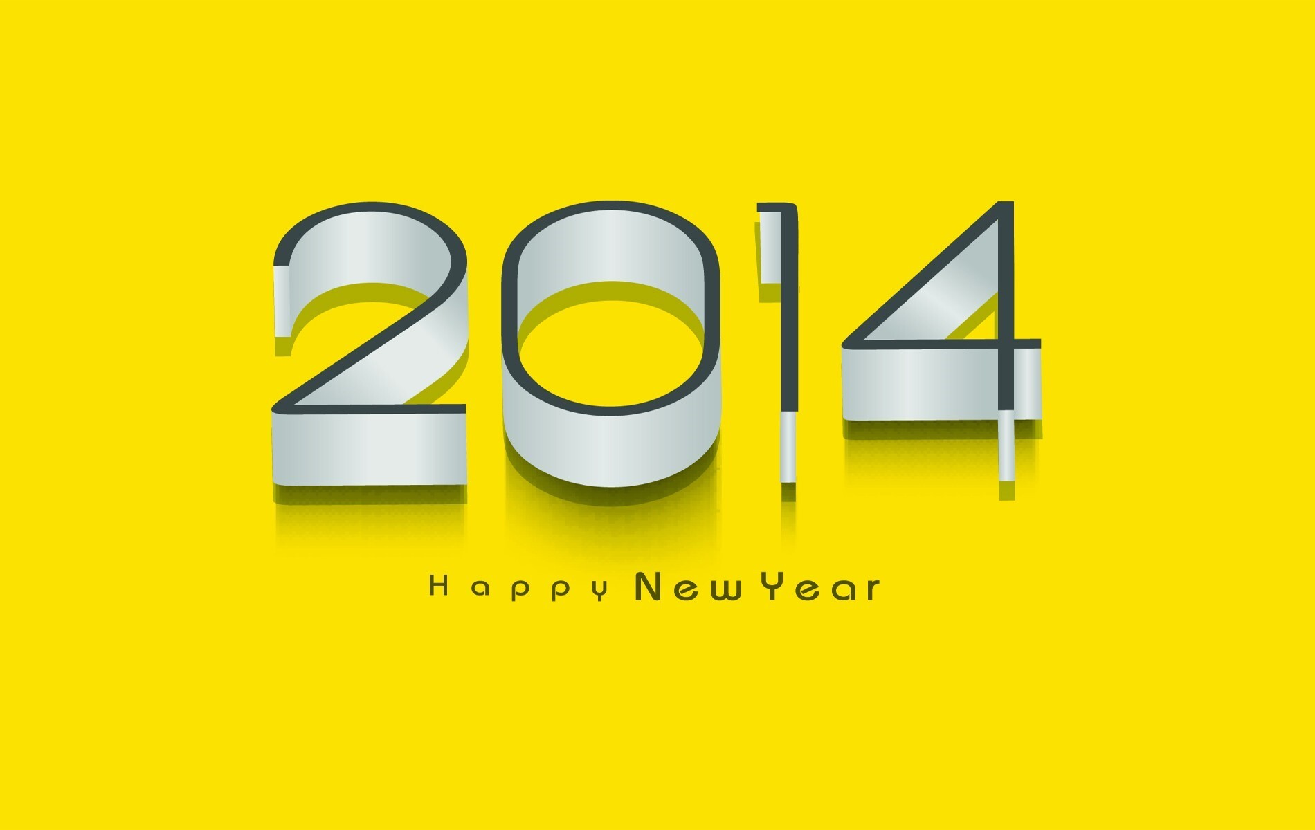 holiday happy new year 2014 photos in yellow background hd wallpapers
