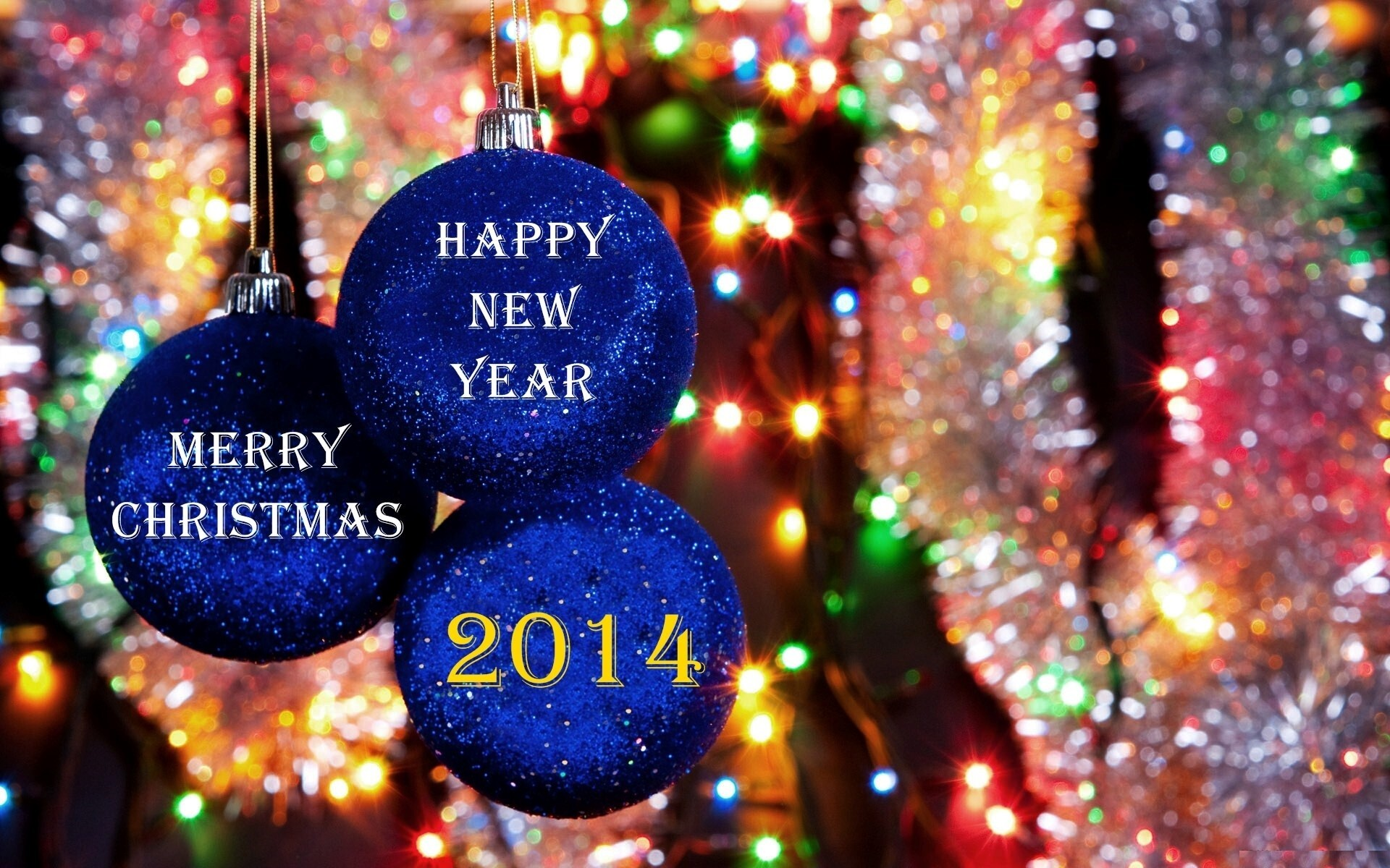 Merry Christmas 2014 New Year Wallpaper Download
