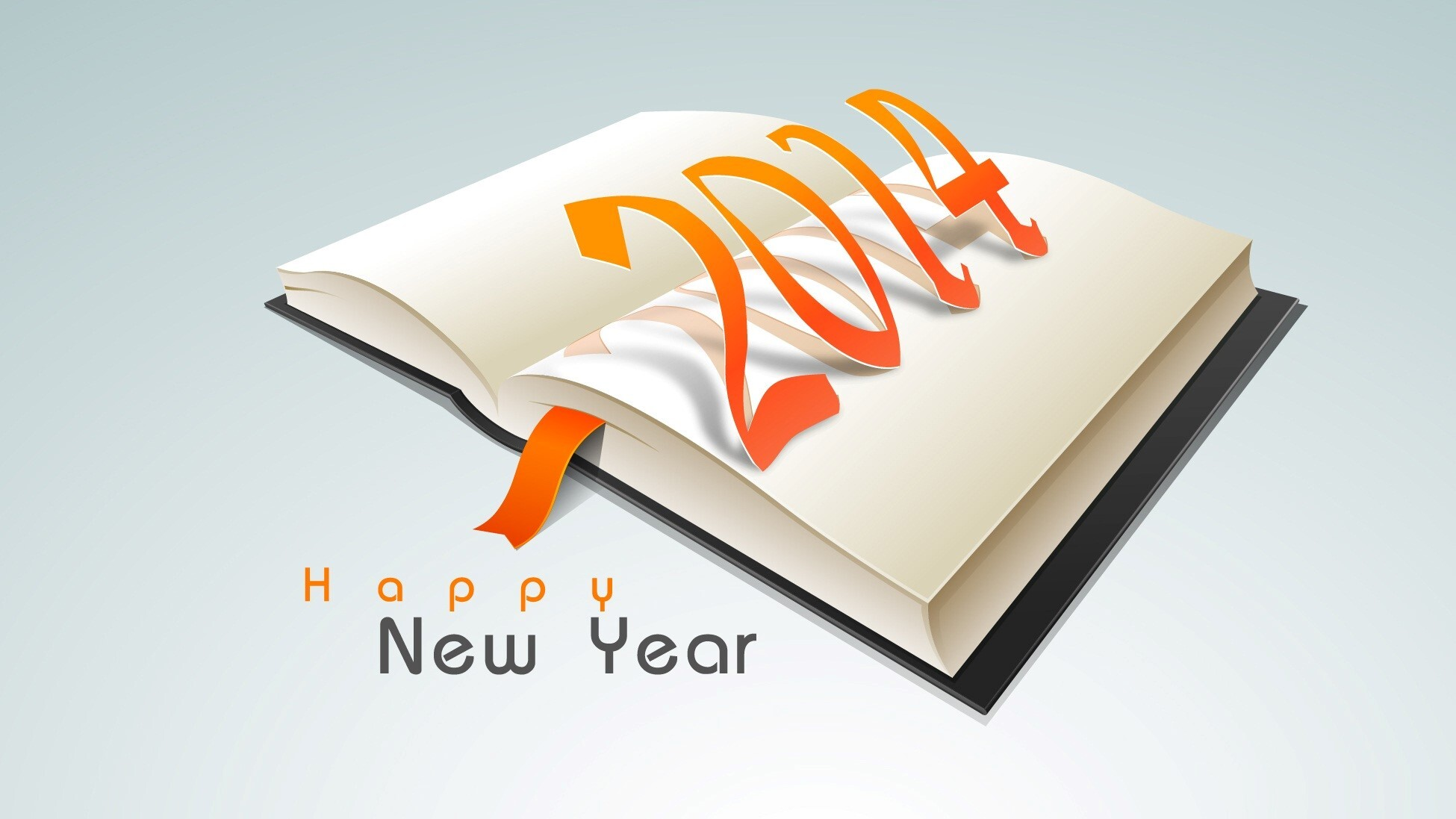 Nice Happy New Year 2014 Quote on Book Wallpaper | HD Wallpapers