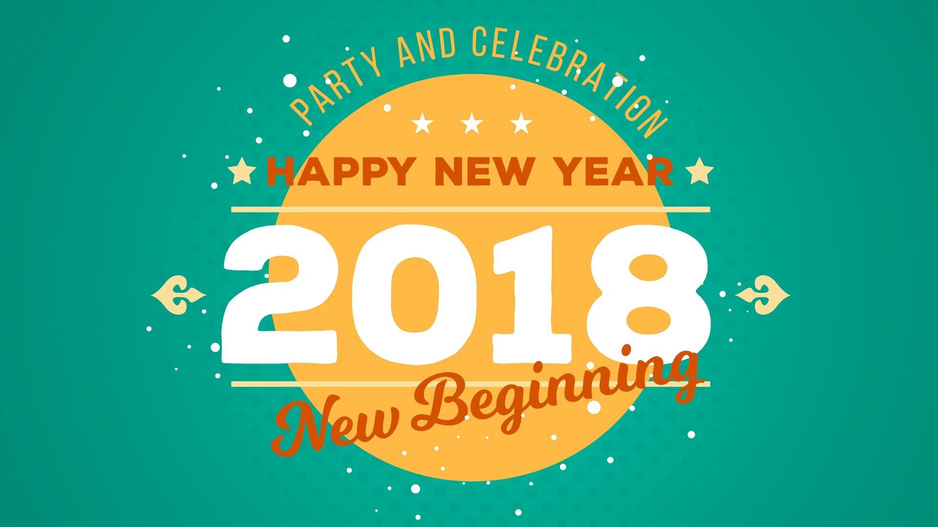 New year wallpaper 2018