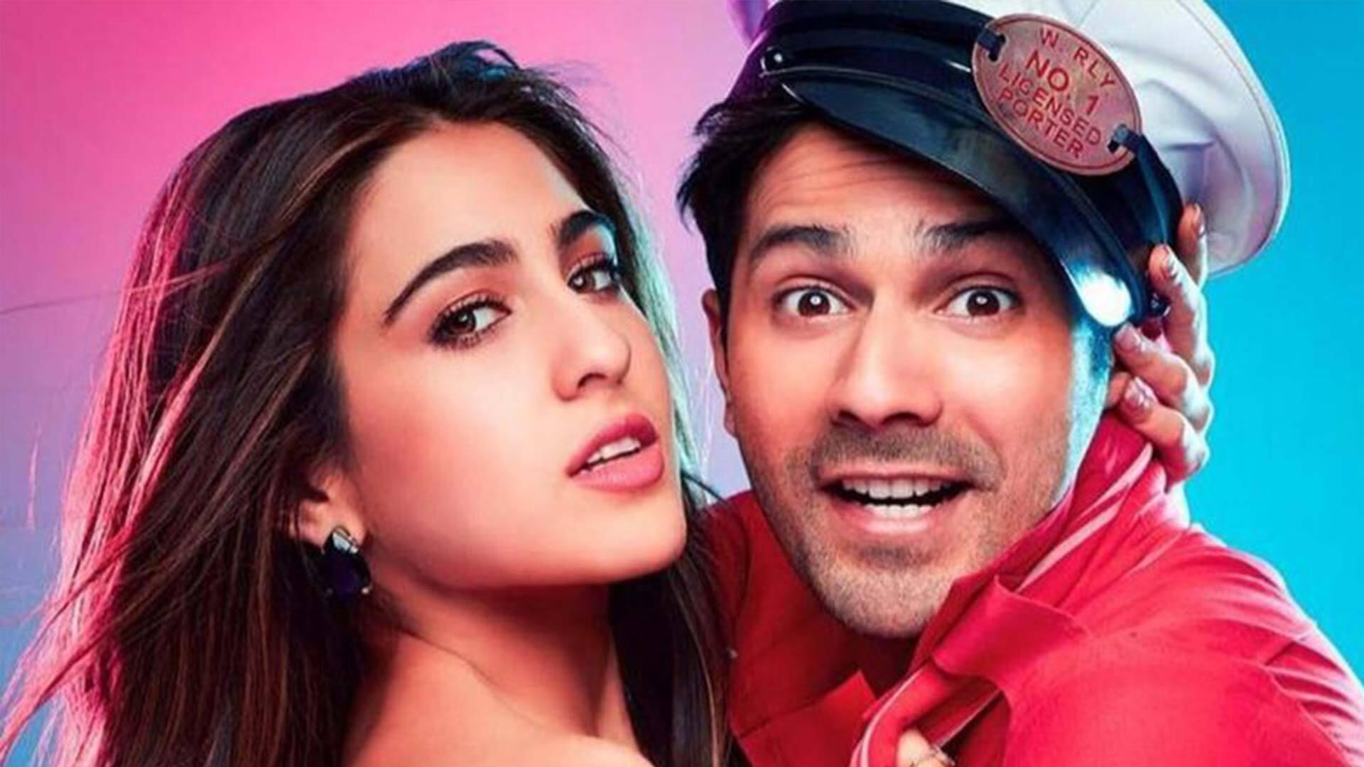 New Coolie No 1 Movie Star Varun Dhawan With Sara Ali Khan Hd Wallpapers