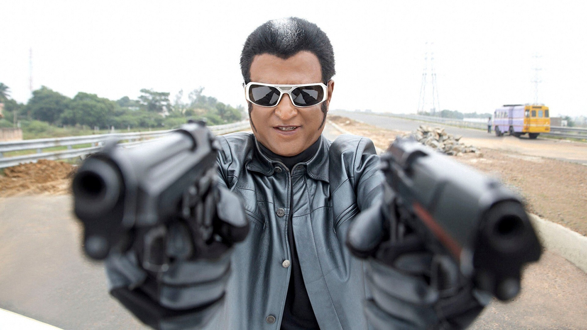 Image result for Rajnikanth gun