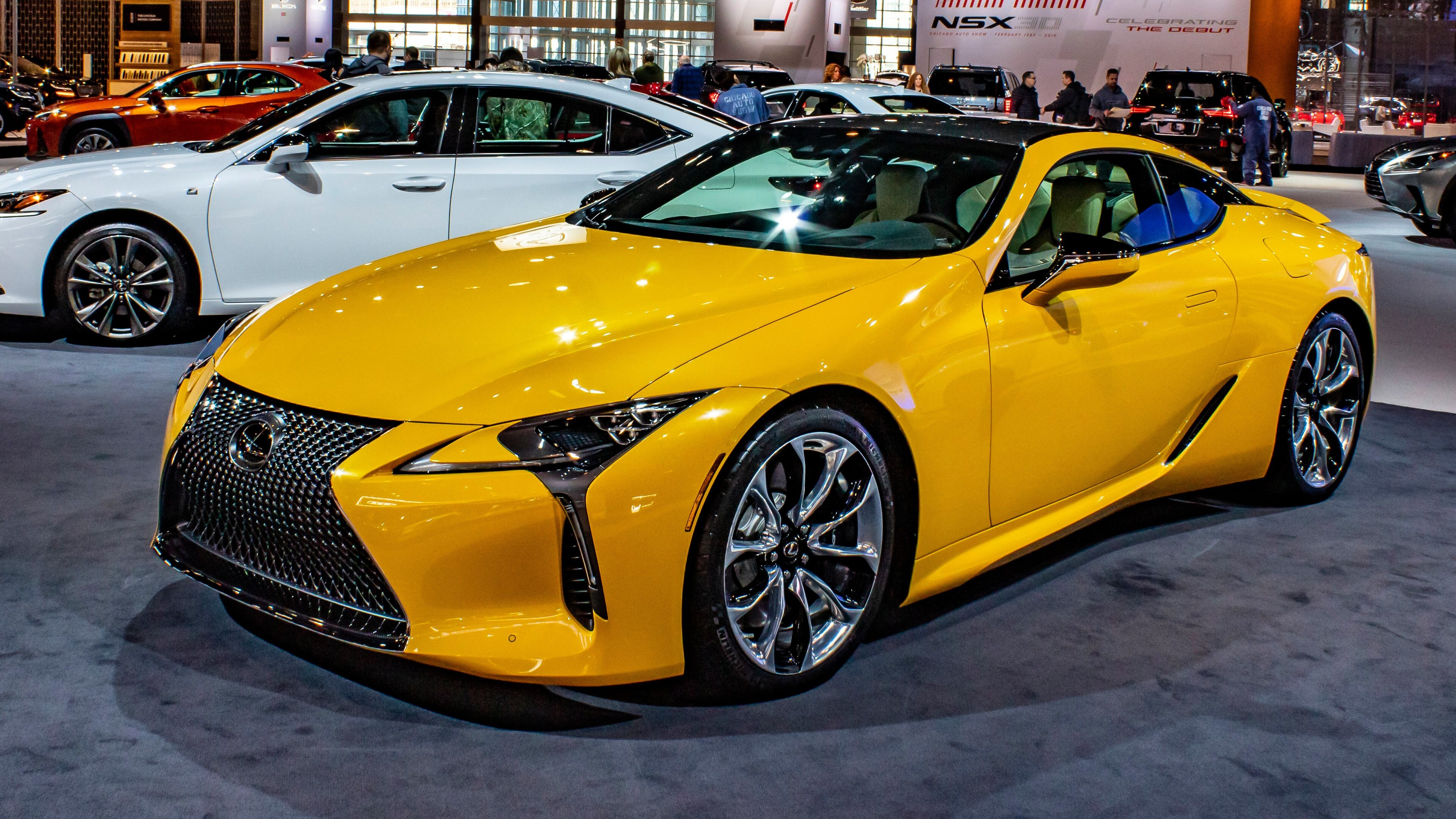 2019 Lexus Lc 500 Inspira Superb Yellow Car 4k Wallpaper Hd Wallpapers