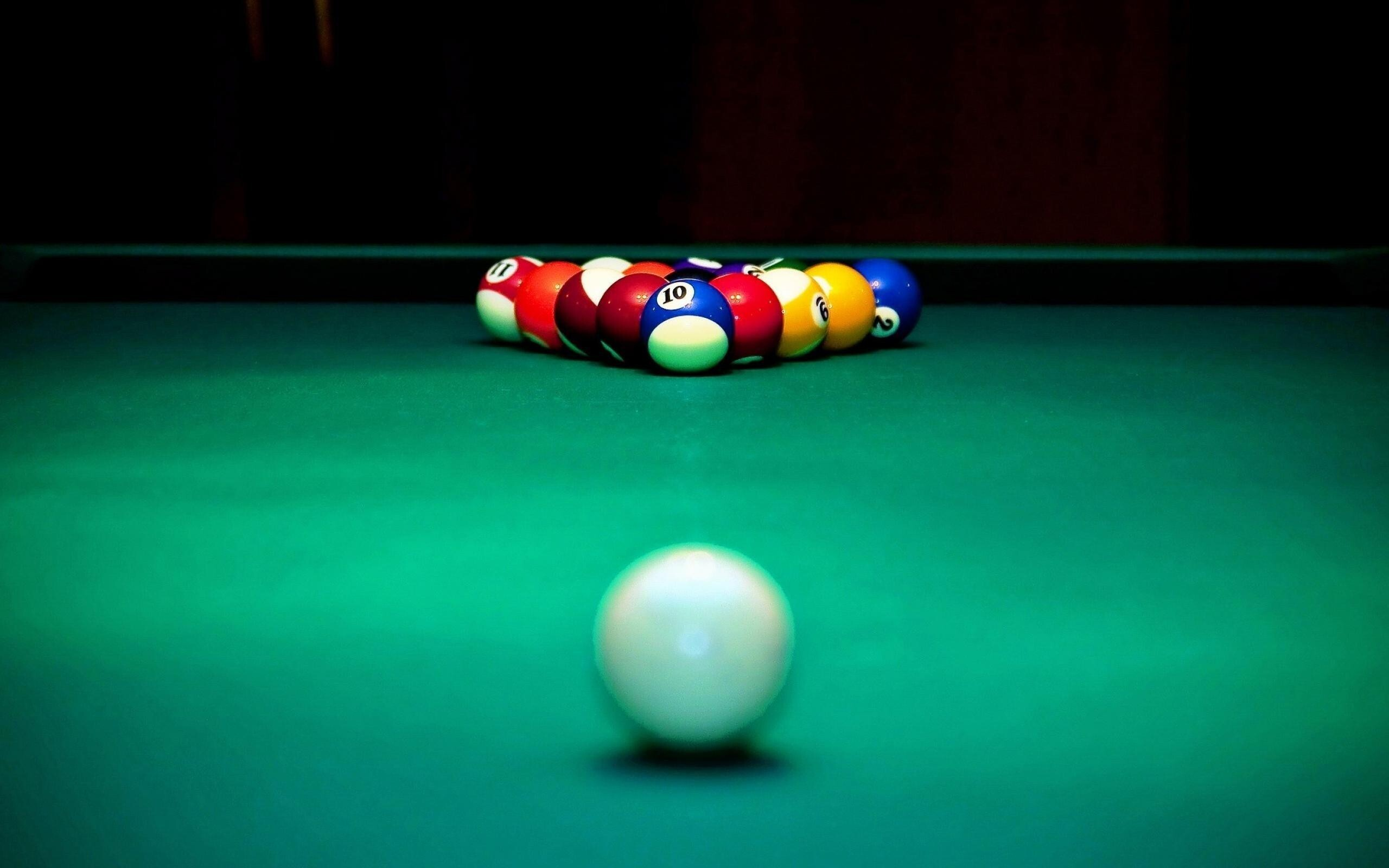 billiards table and balls wallpapers | hd wallpapers