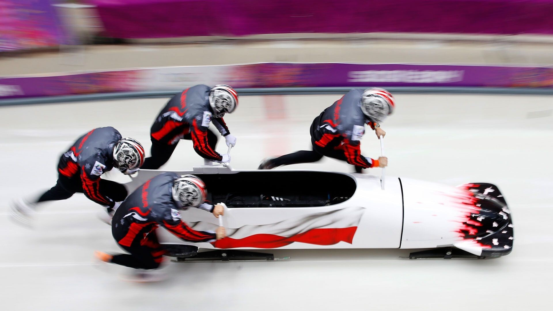 bobsled snow game in olympics 2018 wallpaper hd wallpapers