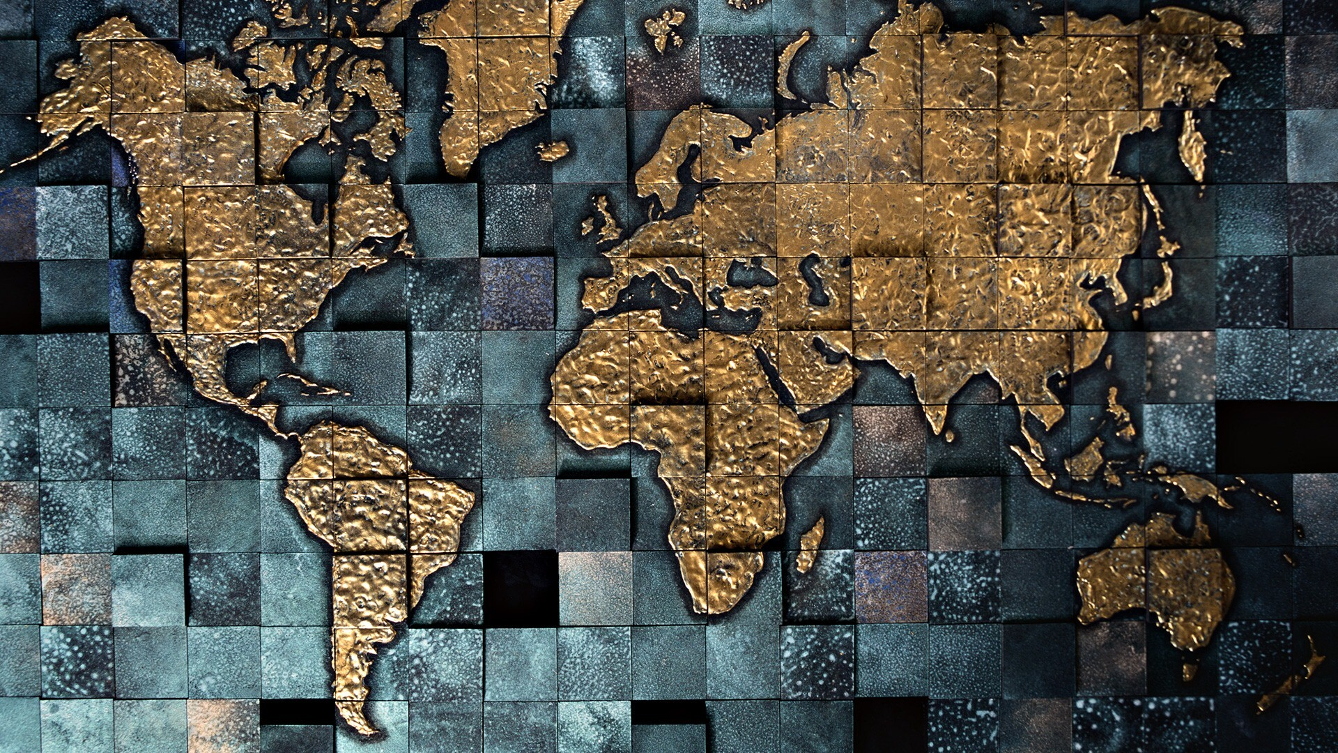 Editable World Map PowerPoint Vectors - SlideModel