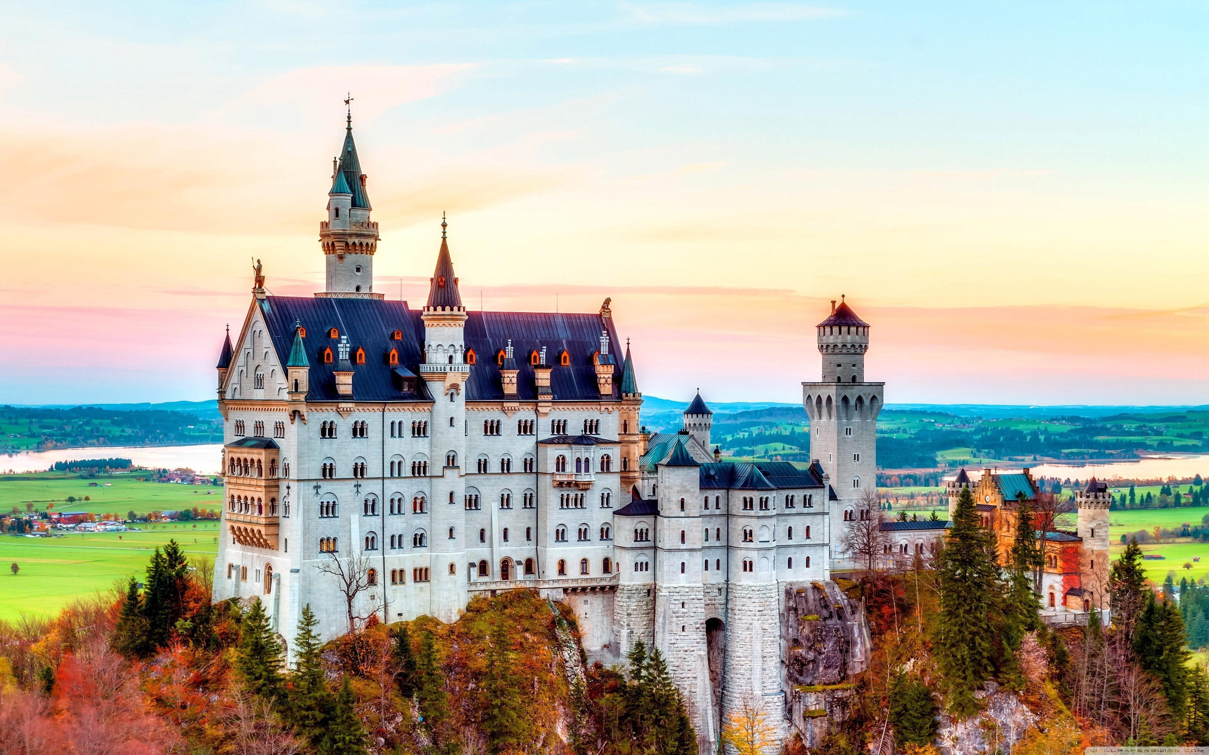Neuschwanstein Castle In Schwangau Germany 4k Wallpapers