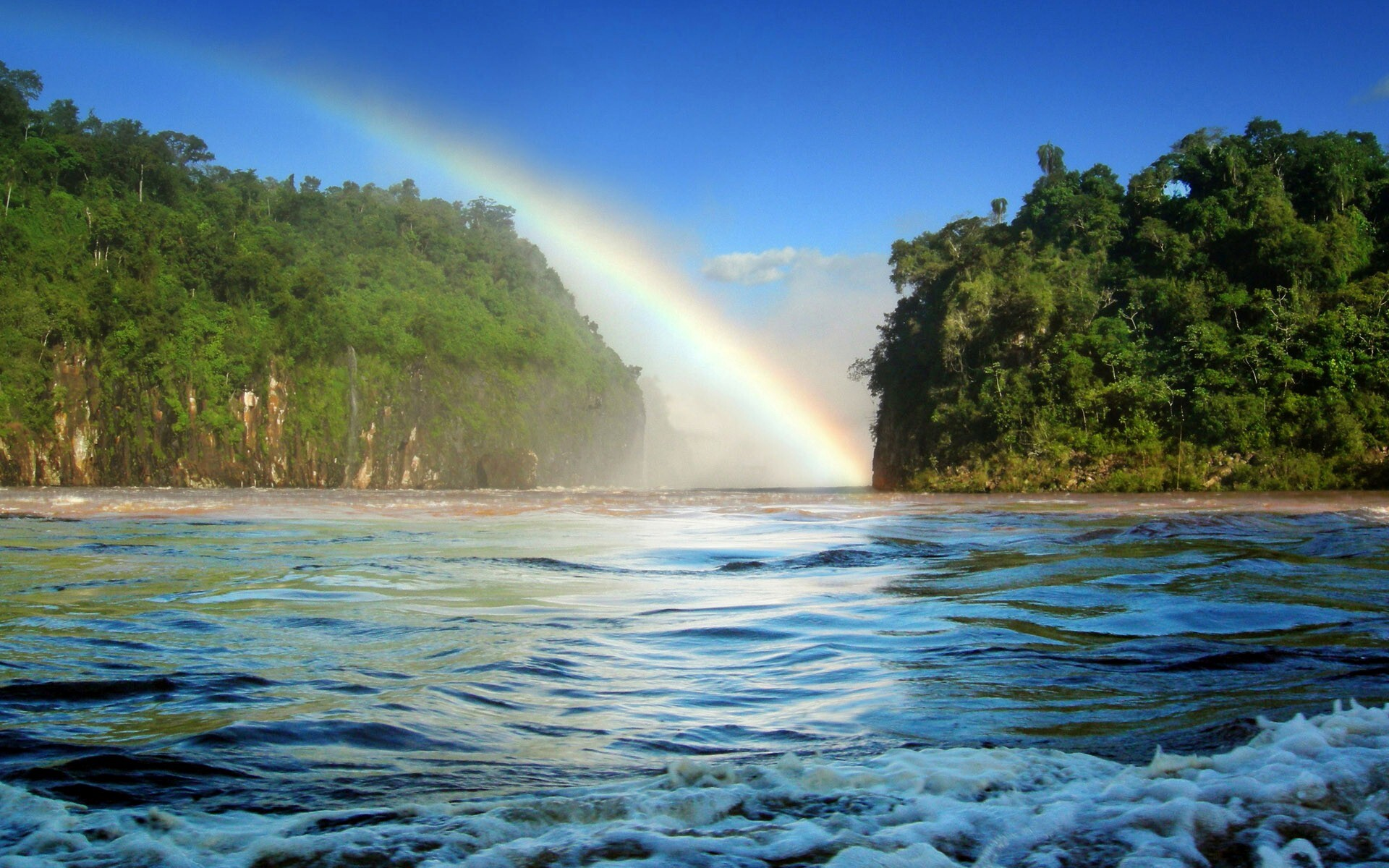 Big Rainbow Nature View Hd Wallpapers