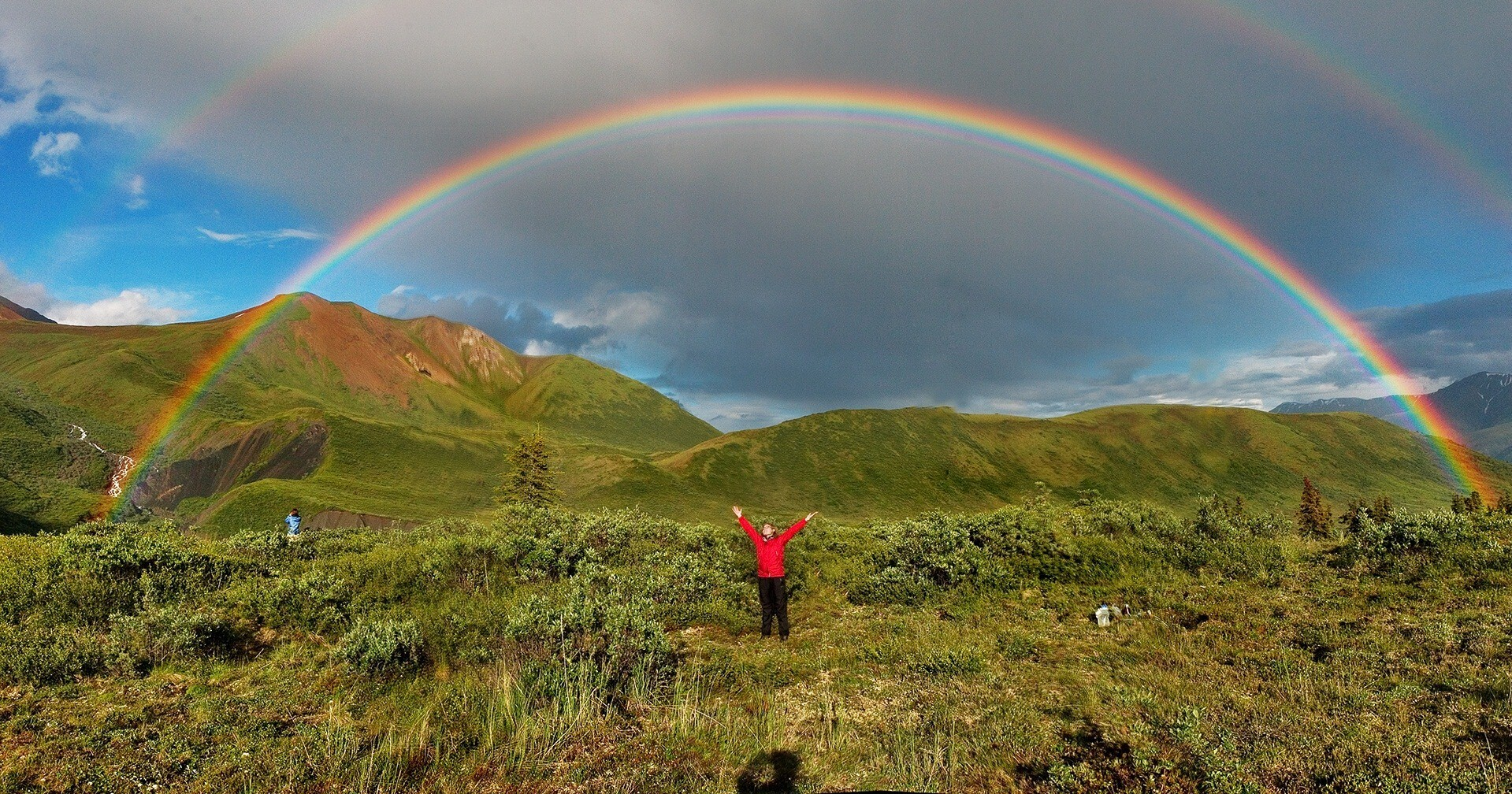 People enjoy natural double rainbows hd wallpapers voltagebd Choice Image