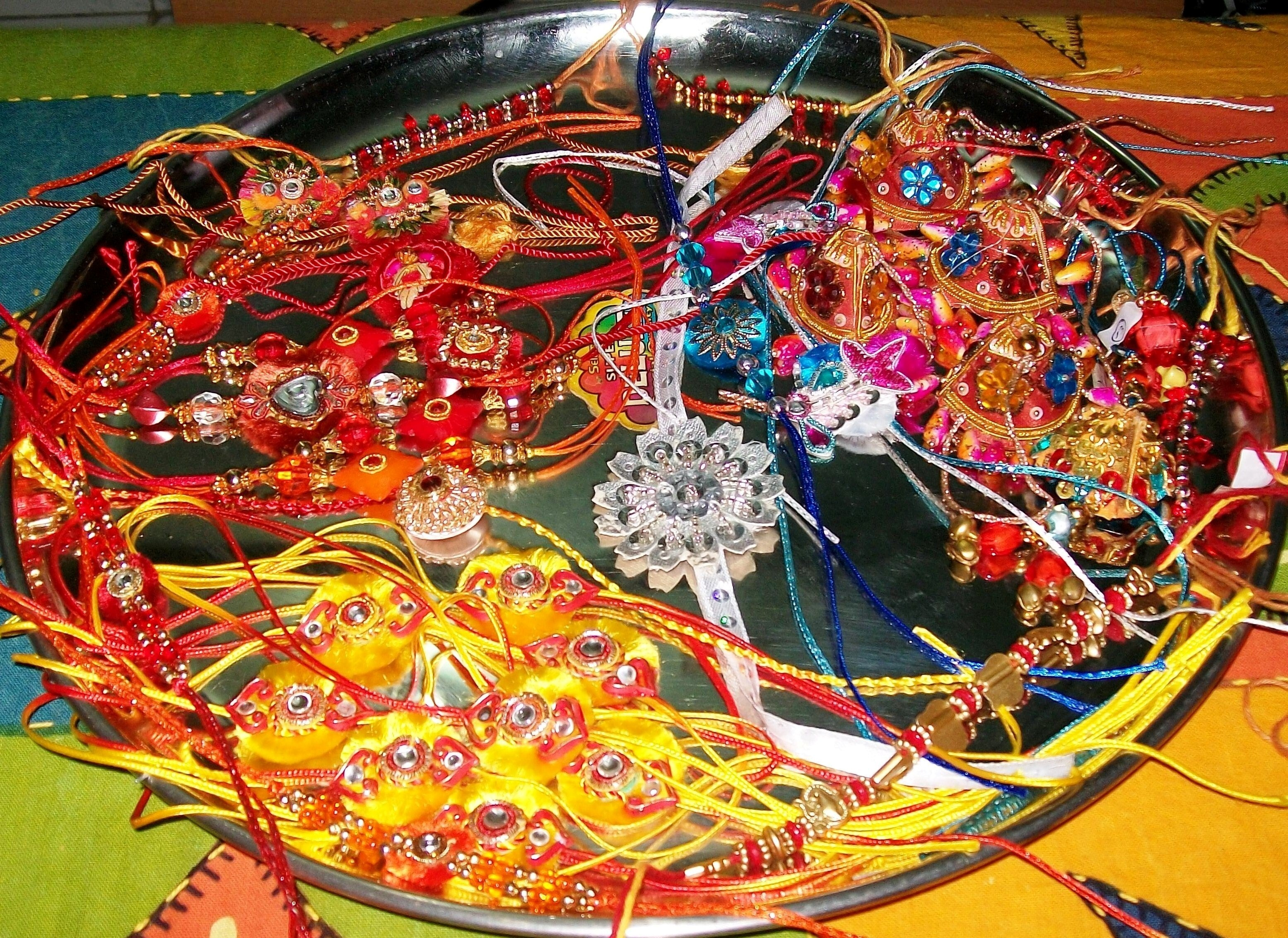 Rakhi on Dish for Raksha Bandhan | HD Wallpapers