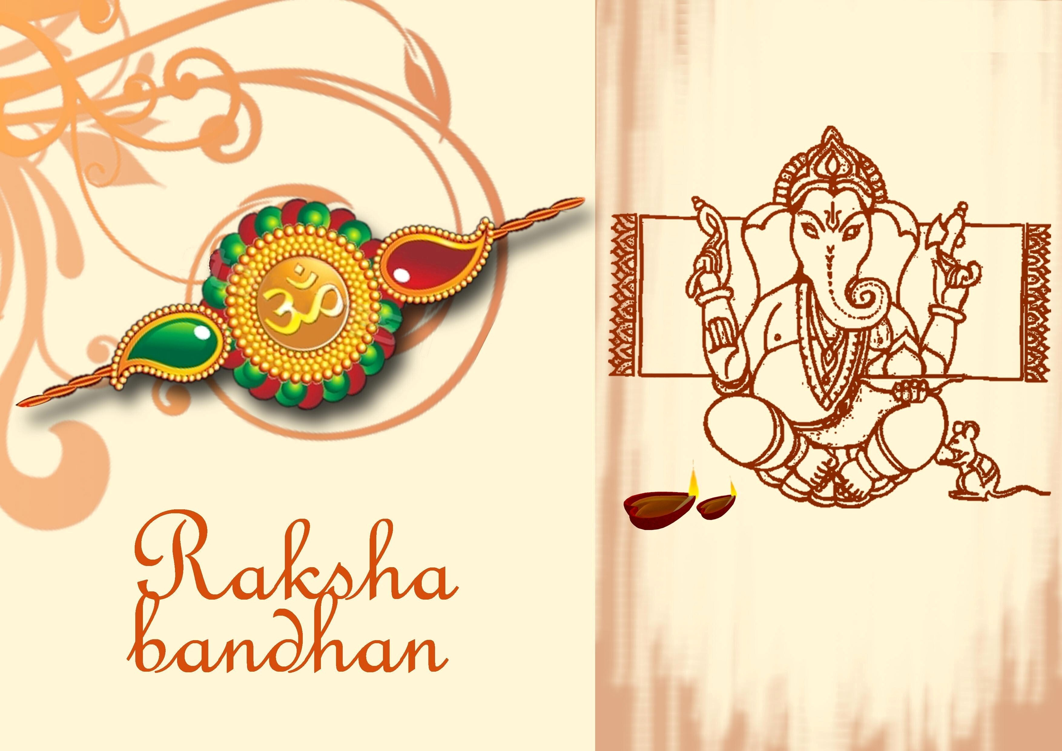 Raksha Bandhan Greetings Wallpaper | HD Wallpapers