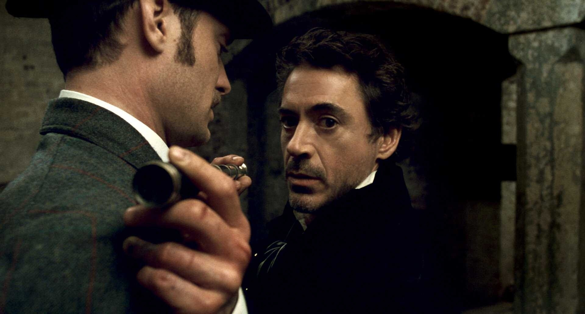 Robert Downey In Movie Sherlock Holmes