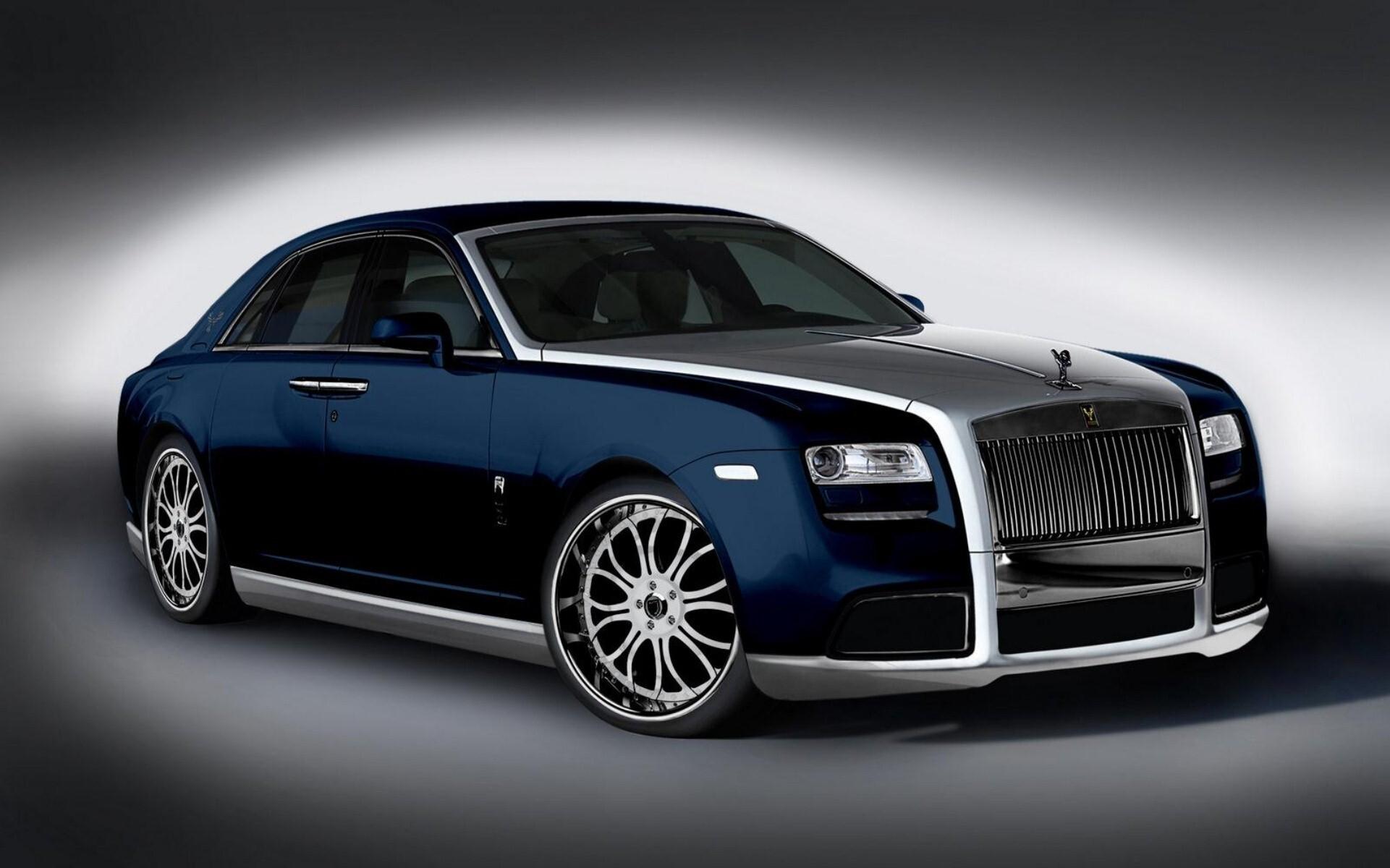 Blue Silver Rolls Royce Car Wallpapers Hd Wallpapers