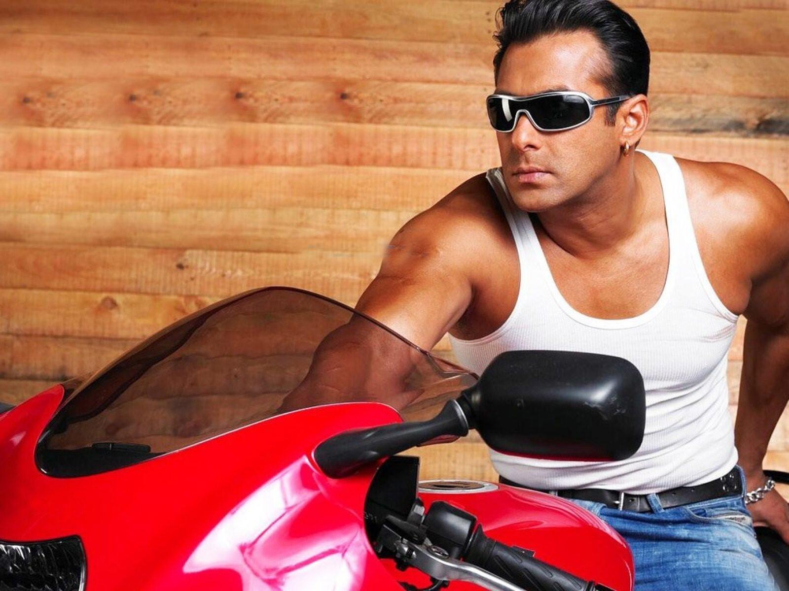 Salman Khan On Bike Hd Wallpapers