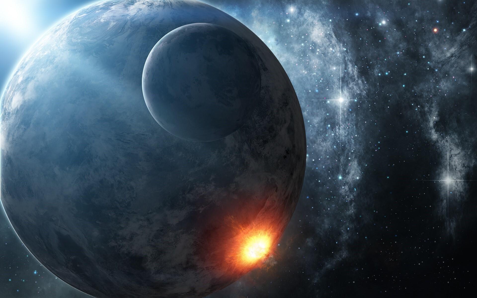 fire planet space wallpaper - photo #8