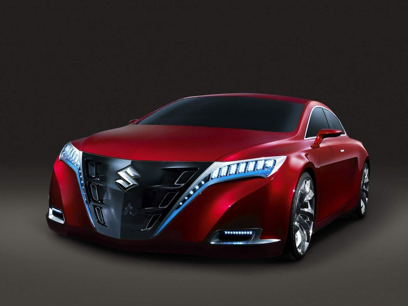 Red Suzuki Kizashi 2 Concept Car Hd Wallpapers