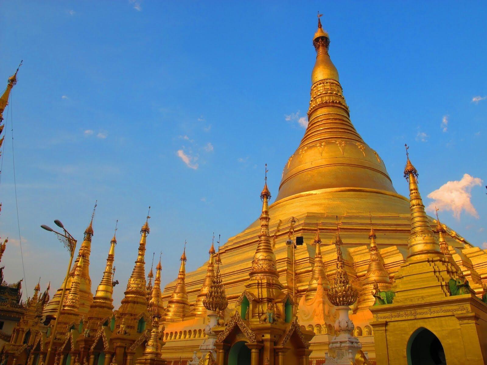 golden temple in myanmar wallpaper | hd wallpapers