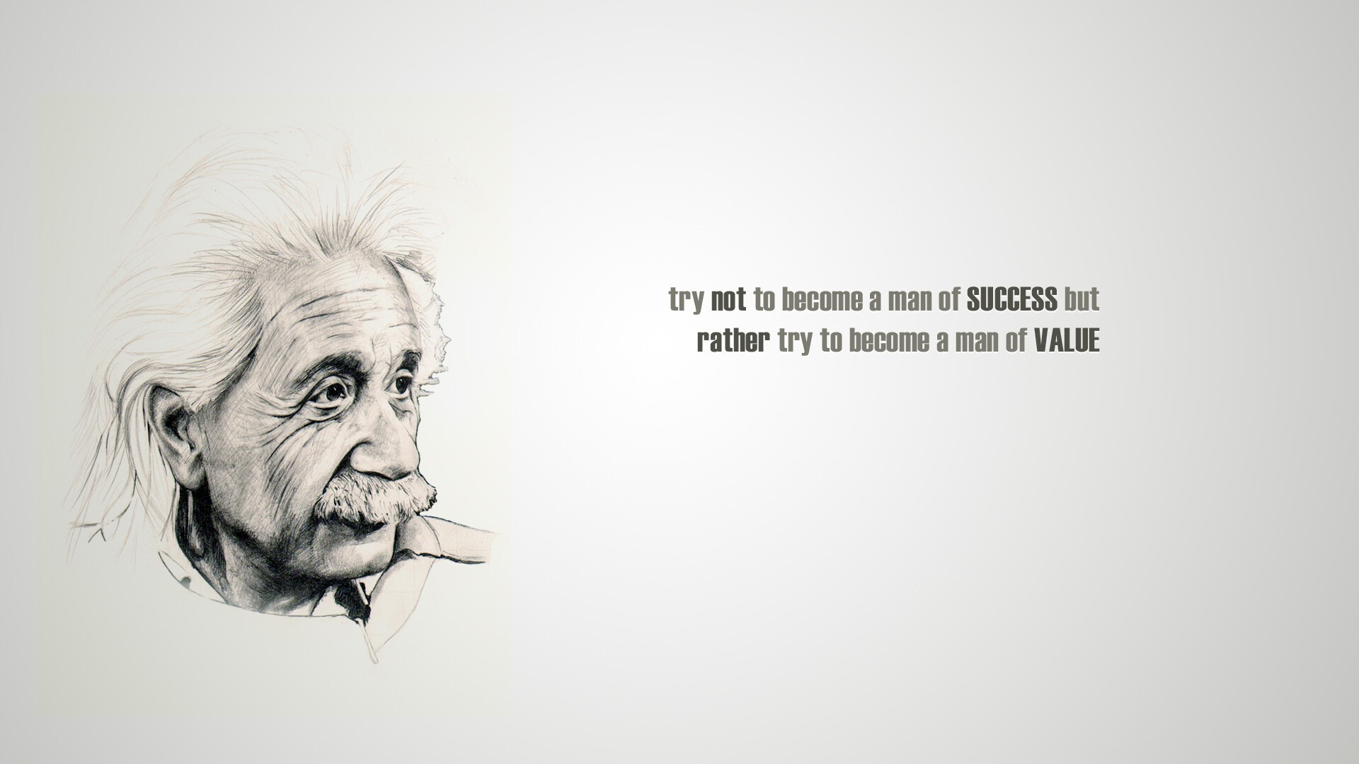albert einstein famous quote on success and value hd wallpaper | hd