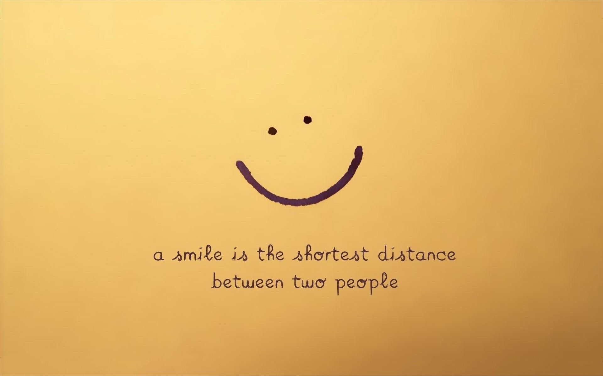 Nice Smile Quotes Background With Yellow
