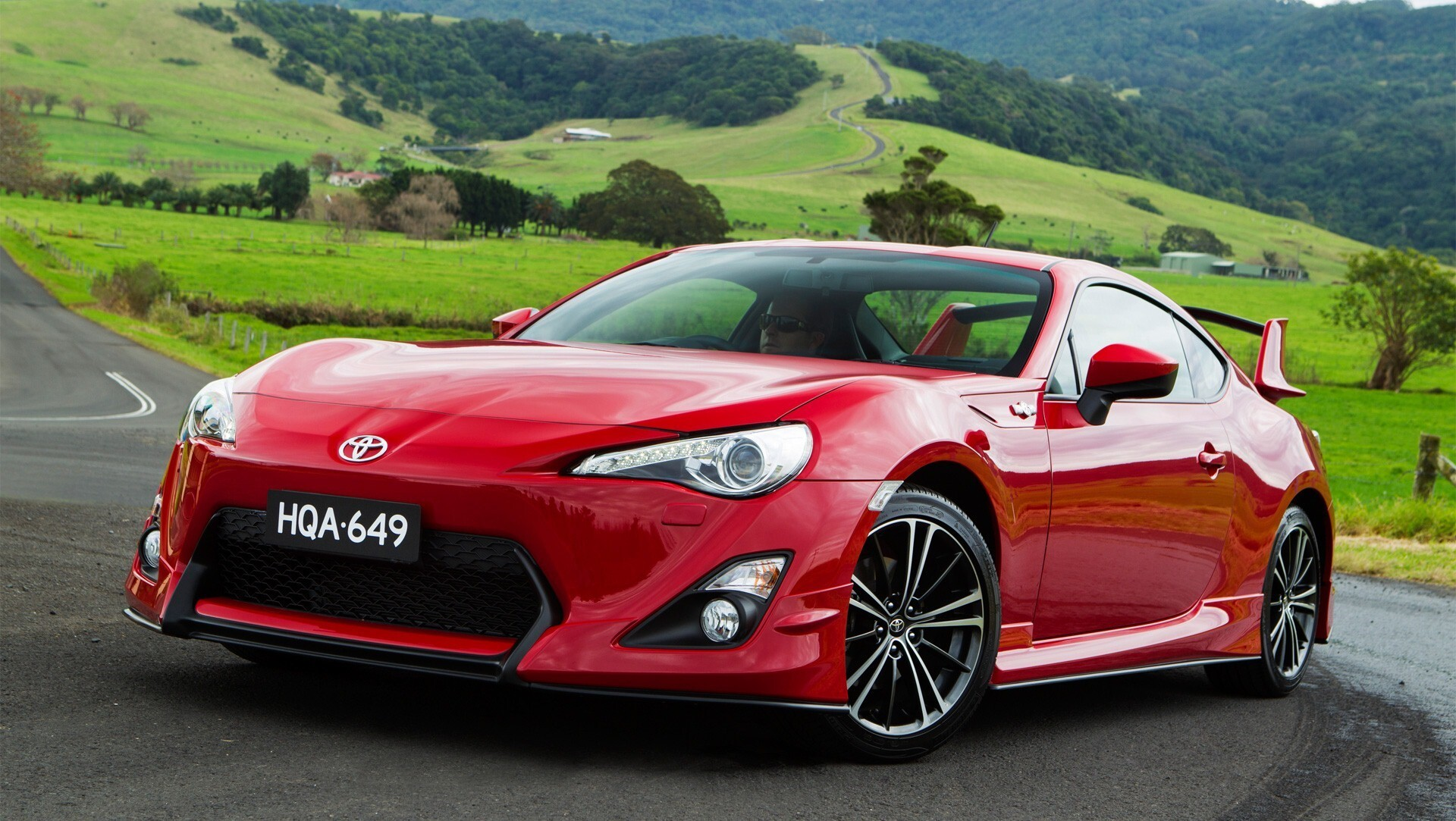 Red Toyota Sport Car Wallpaper Hd Wallpapers