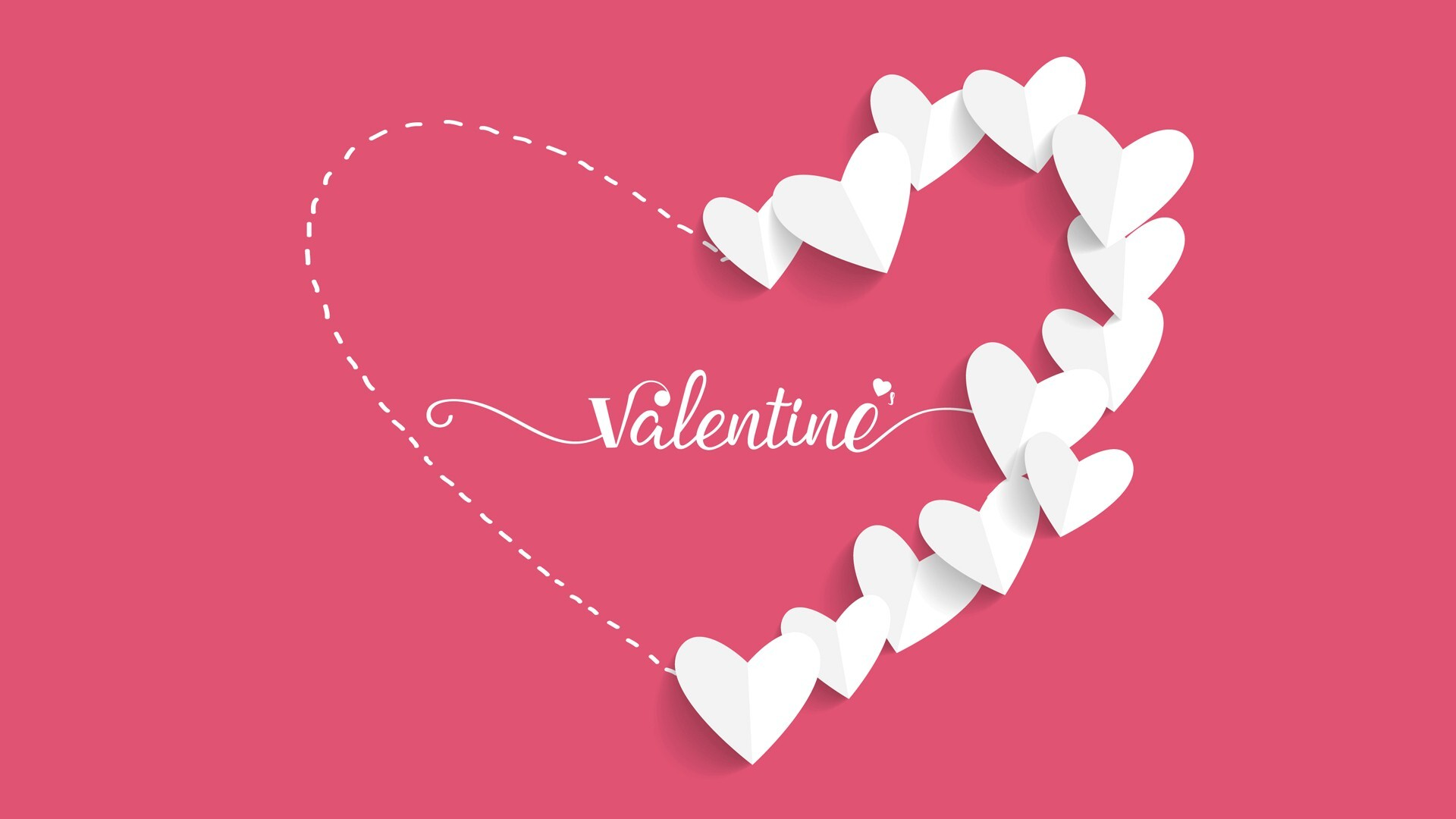 Beautiful Pink Valentine Wallpaper