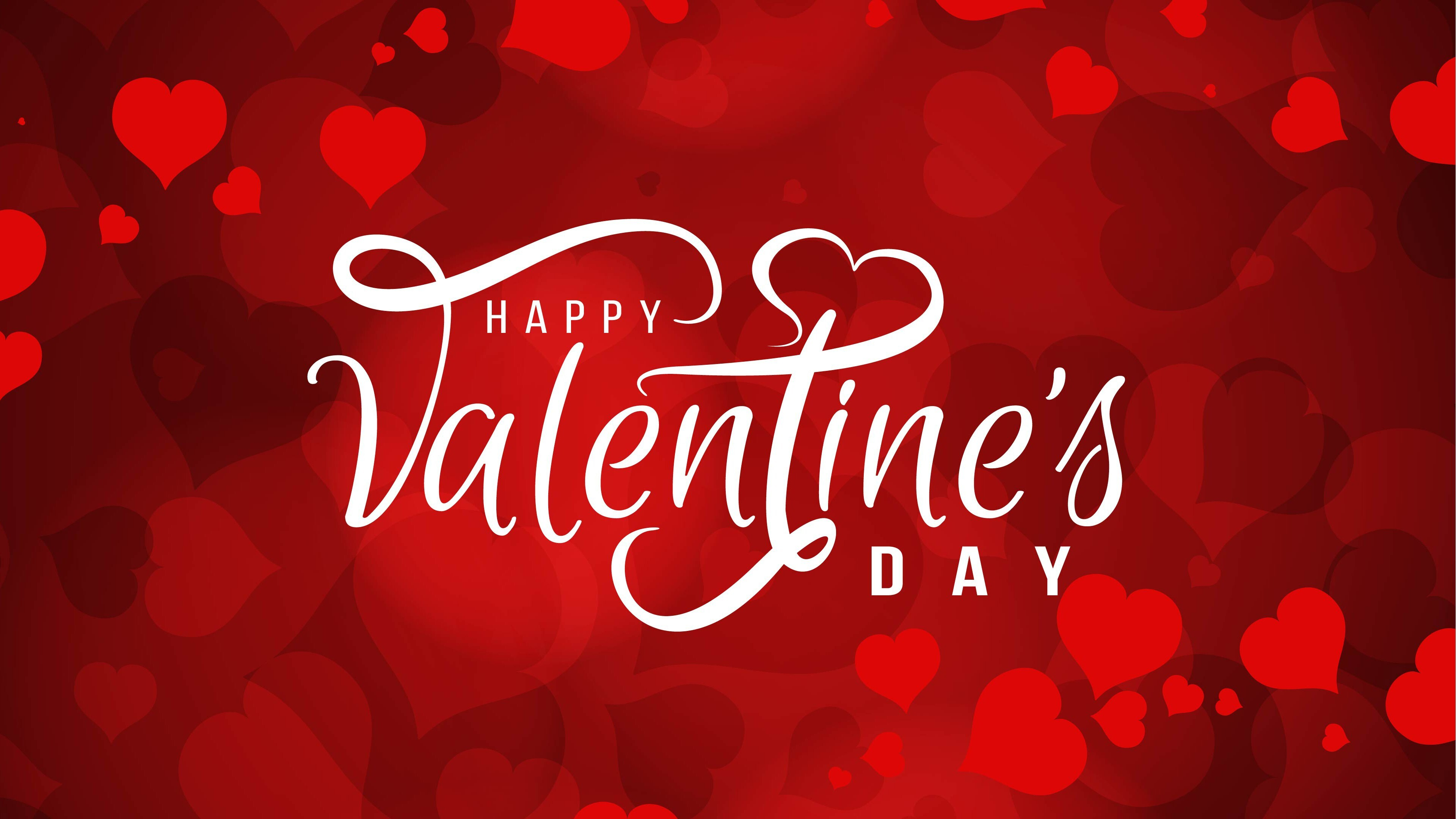 Beautiful Valentine Day 4k Wallpaper In Red Background Hd Wallpapers