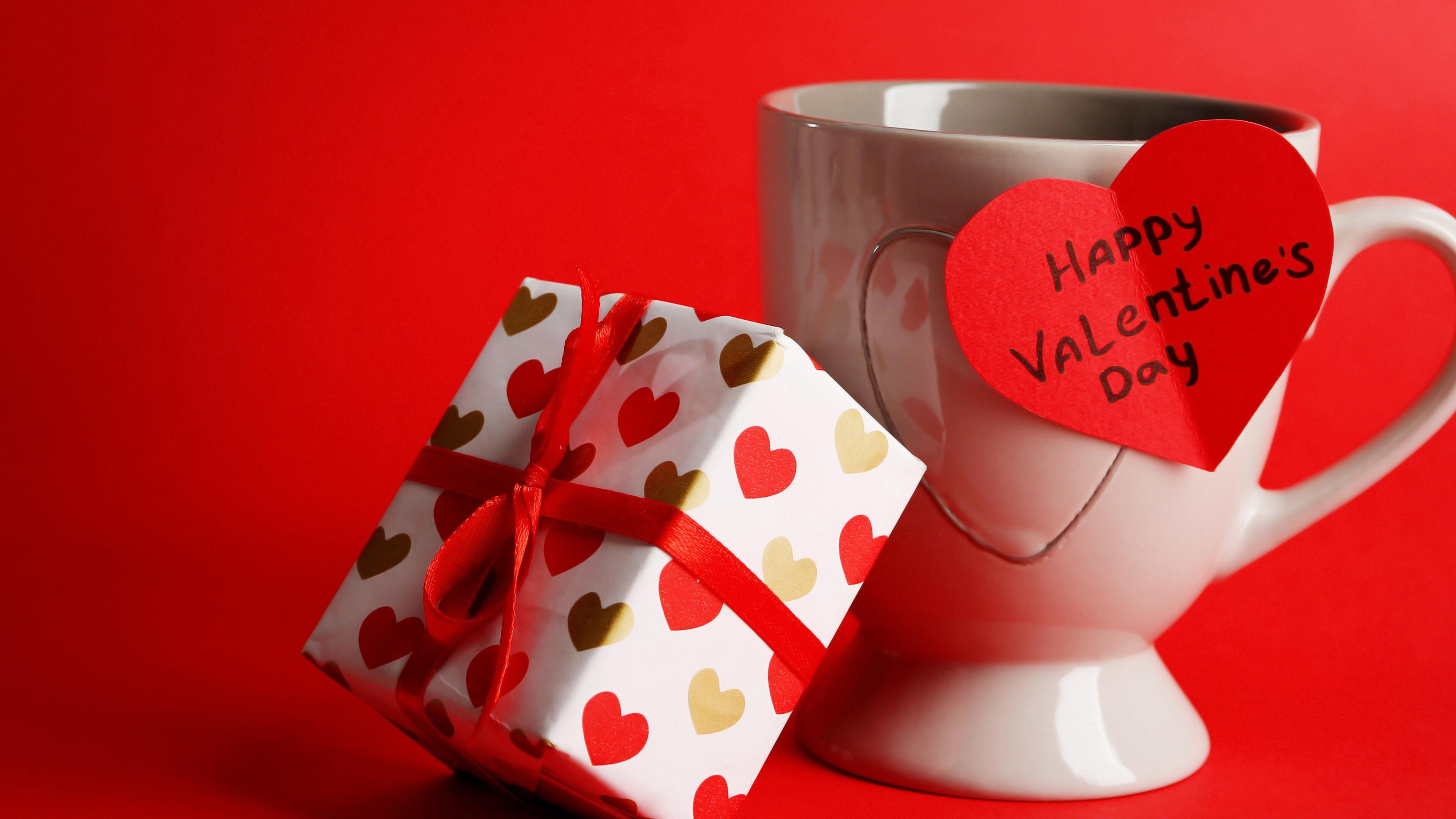 Happy Valentines Day Gift 4k Wallpaper Hd Wallpapers