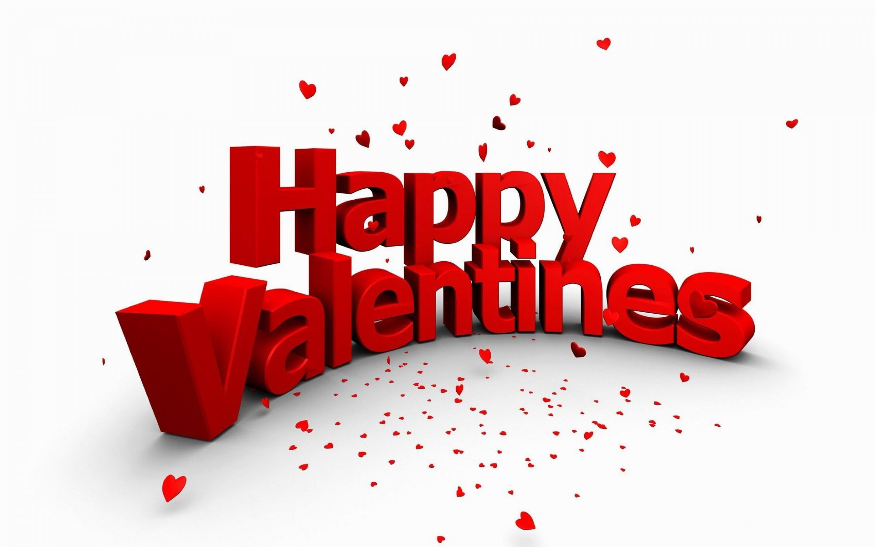 Happy Valentines Day In Red Text High Quality Laptop Desktop