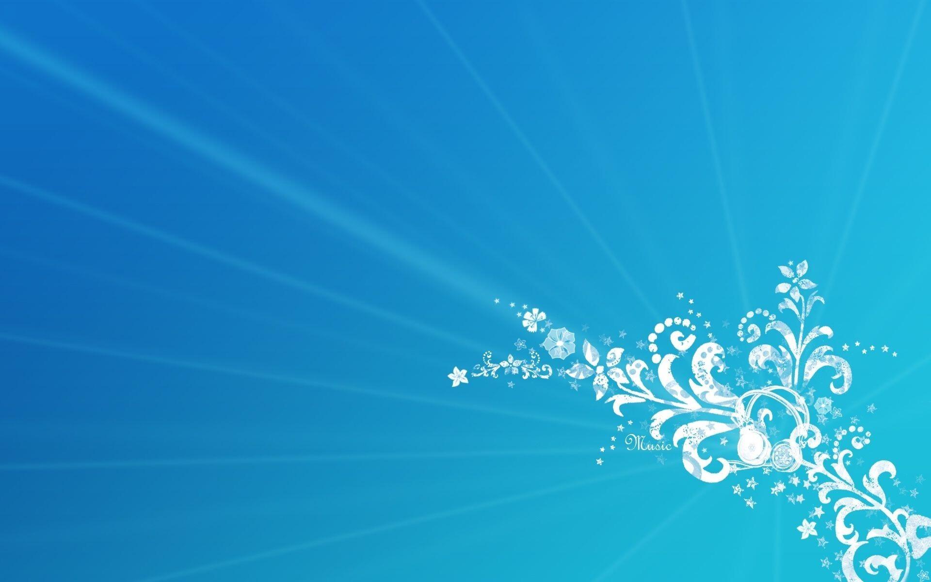Best Wallpaper Blue Music - Blue_Music_Flower_Corner_Design_Wallpapers  Collection_73813.jpg