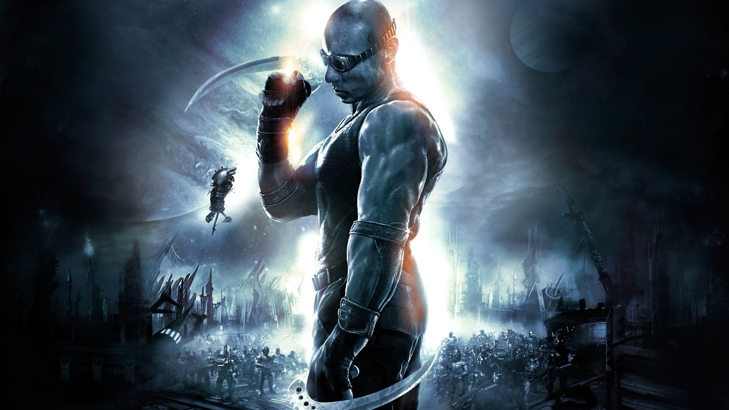 vin diesel in movie the chronicles of riddick | hd wallpapers