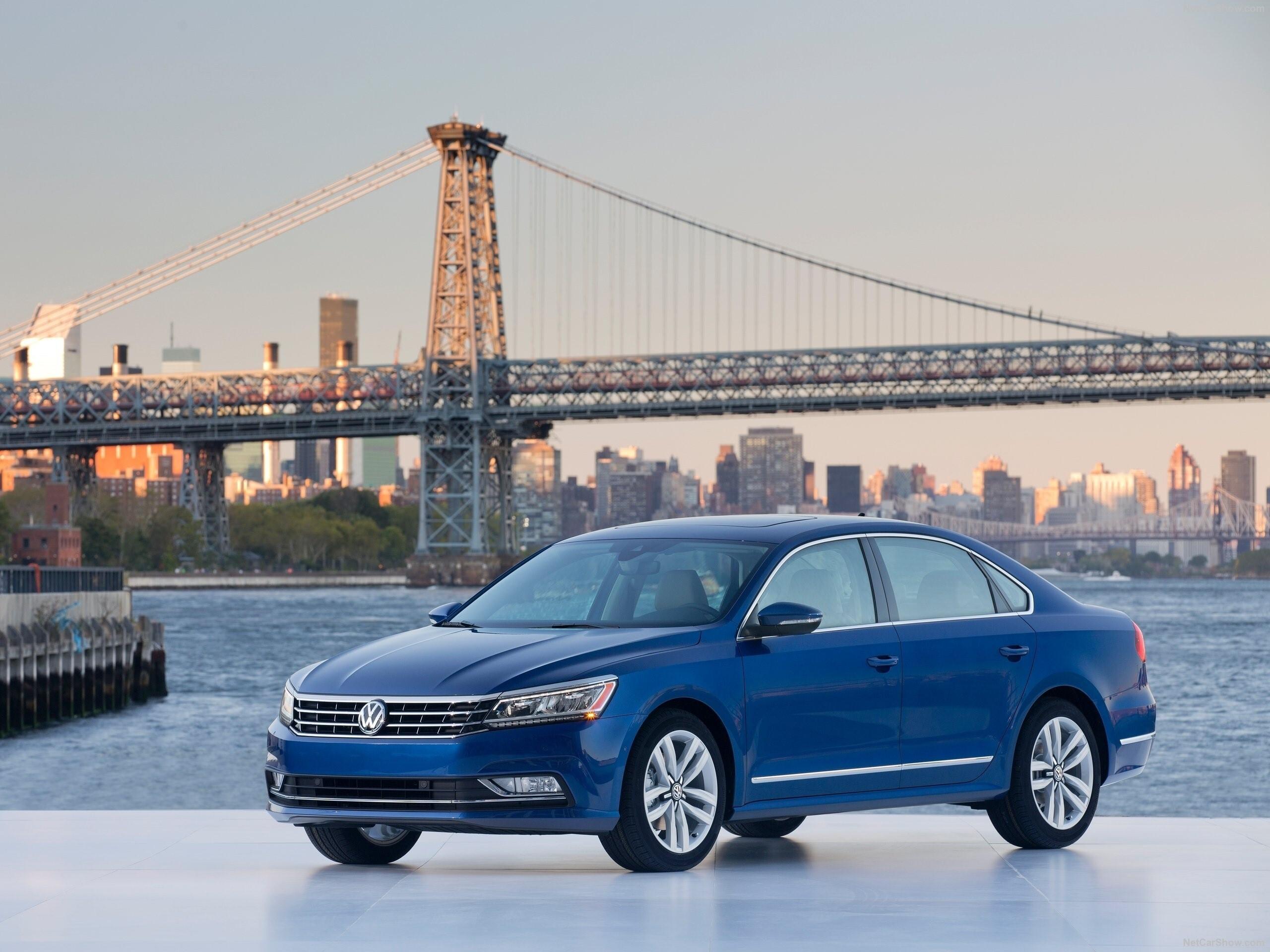 Blue Volkswagen Passat 2017 Car Hd Wallpaper Hd Wallpapers