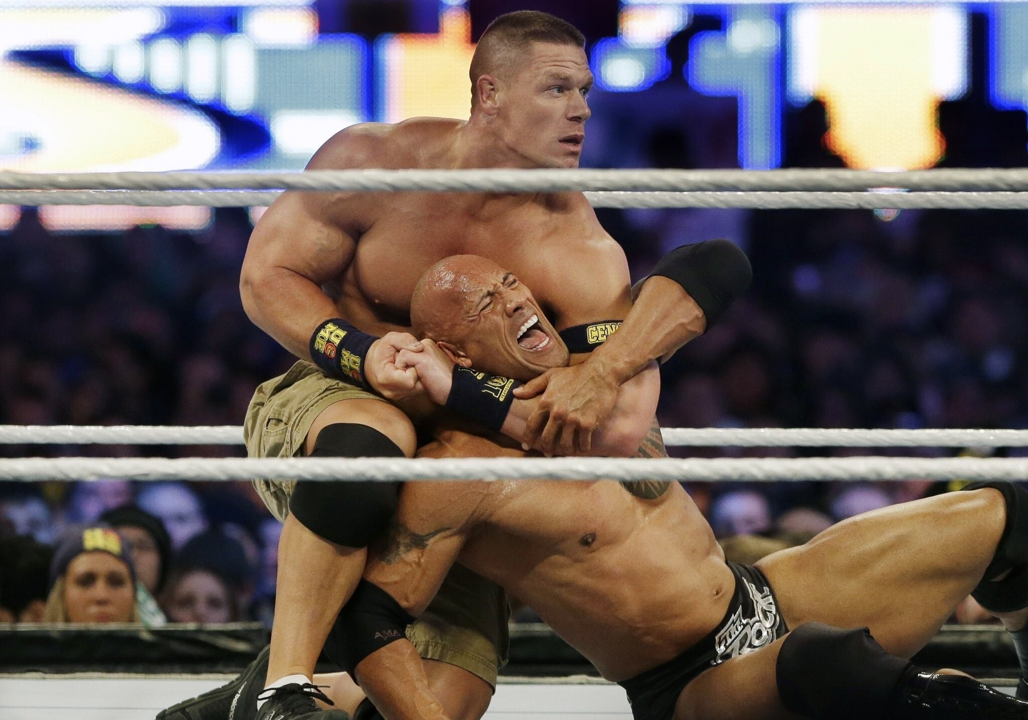 John Cena Fight With Rock In Wrestlemania 29 Hd Wallpapers
