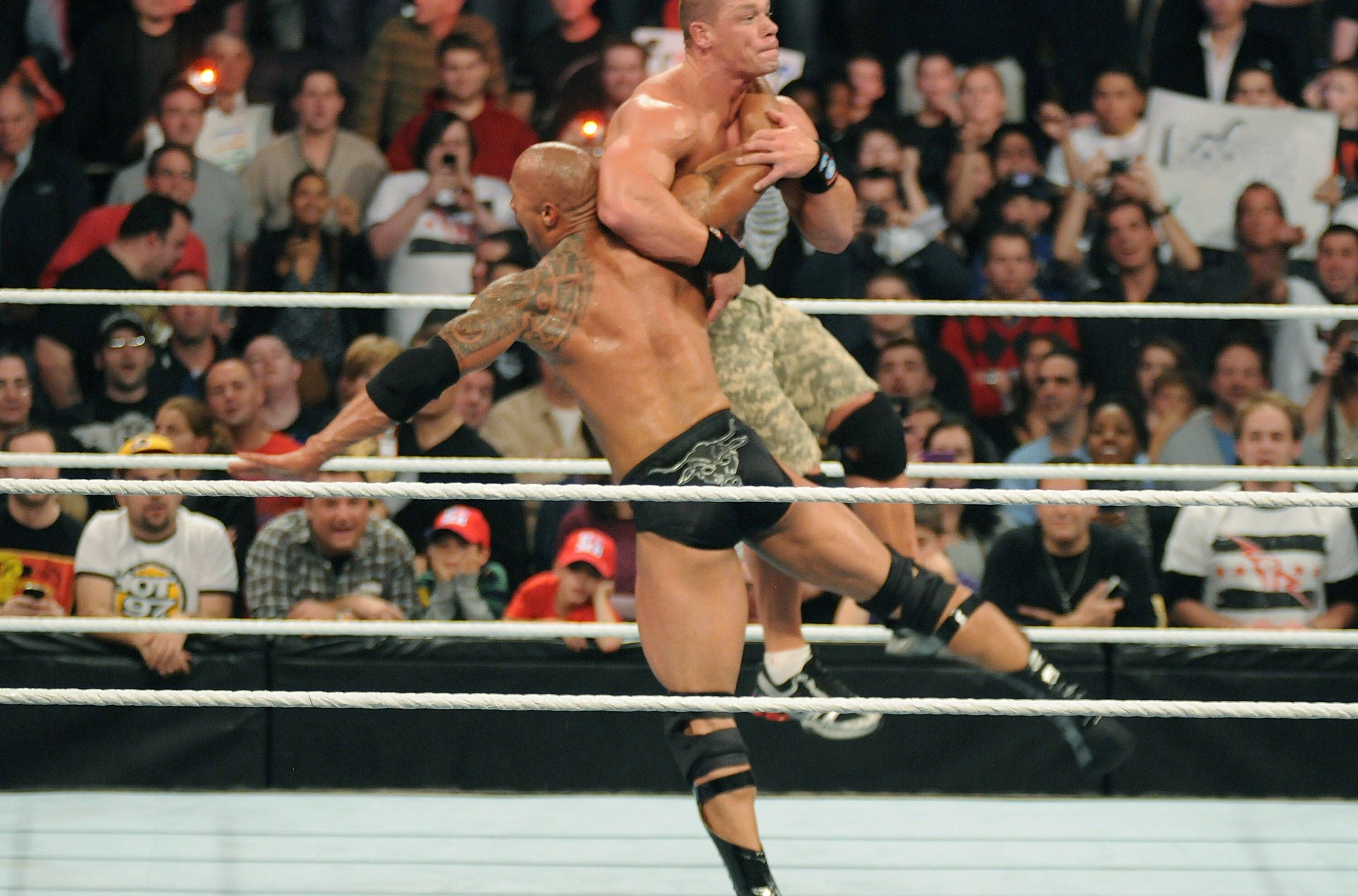 rock and john cena wwe fight hd wallpapers | hd wallpapers