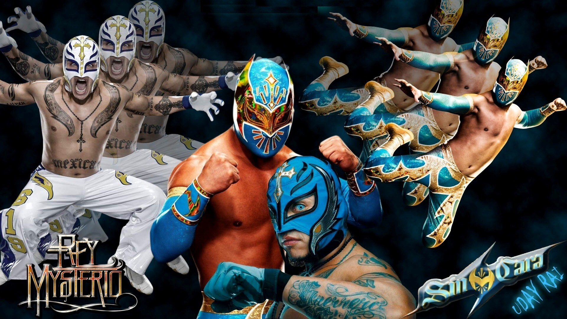 Wwe rey mysterio different looks hd wallpapers - Sin cara definition ...