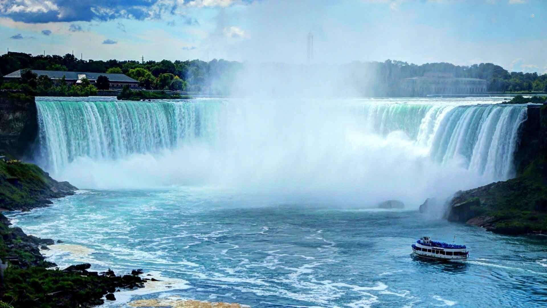 Amazing Look Of Niagara Falls In Us Wallpaper Hd Wallpapers