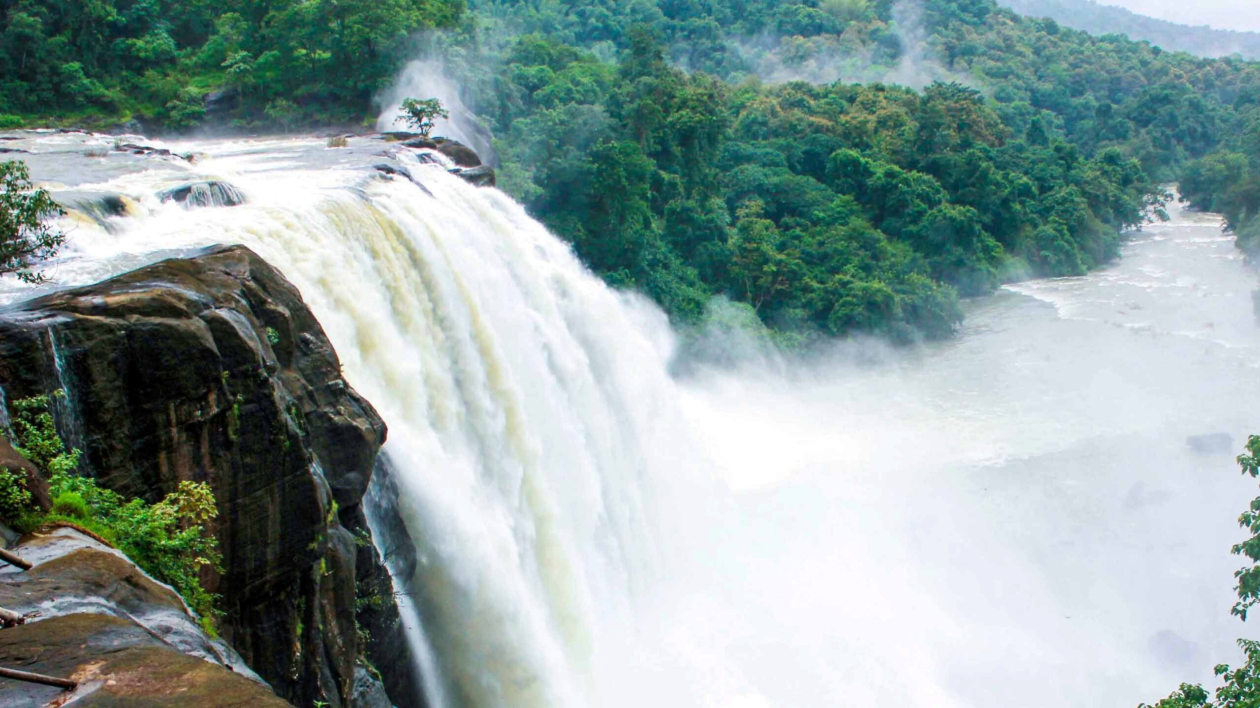 athirappilly waterfall in kerala india hd wallpapers