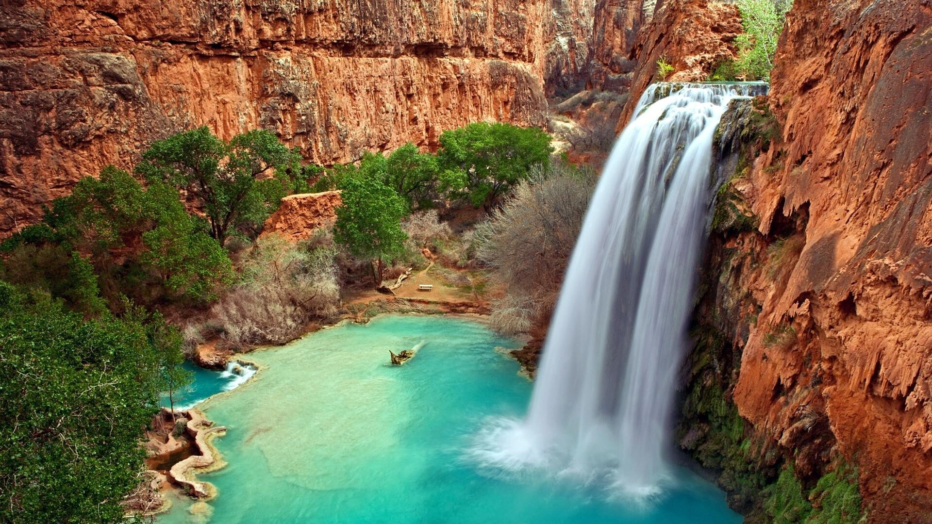 Beautiful Australian Waterfall HD Wallpaper