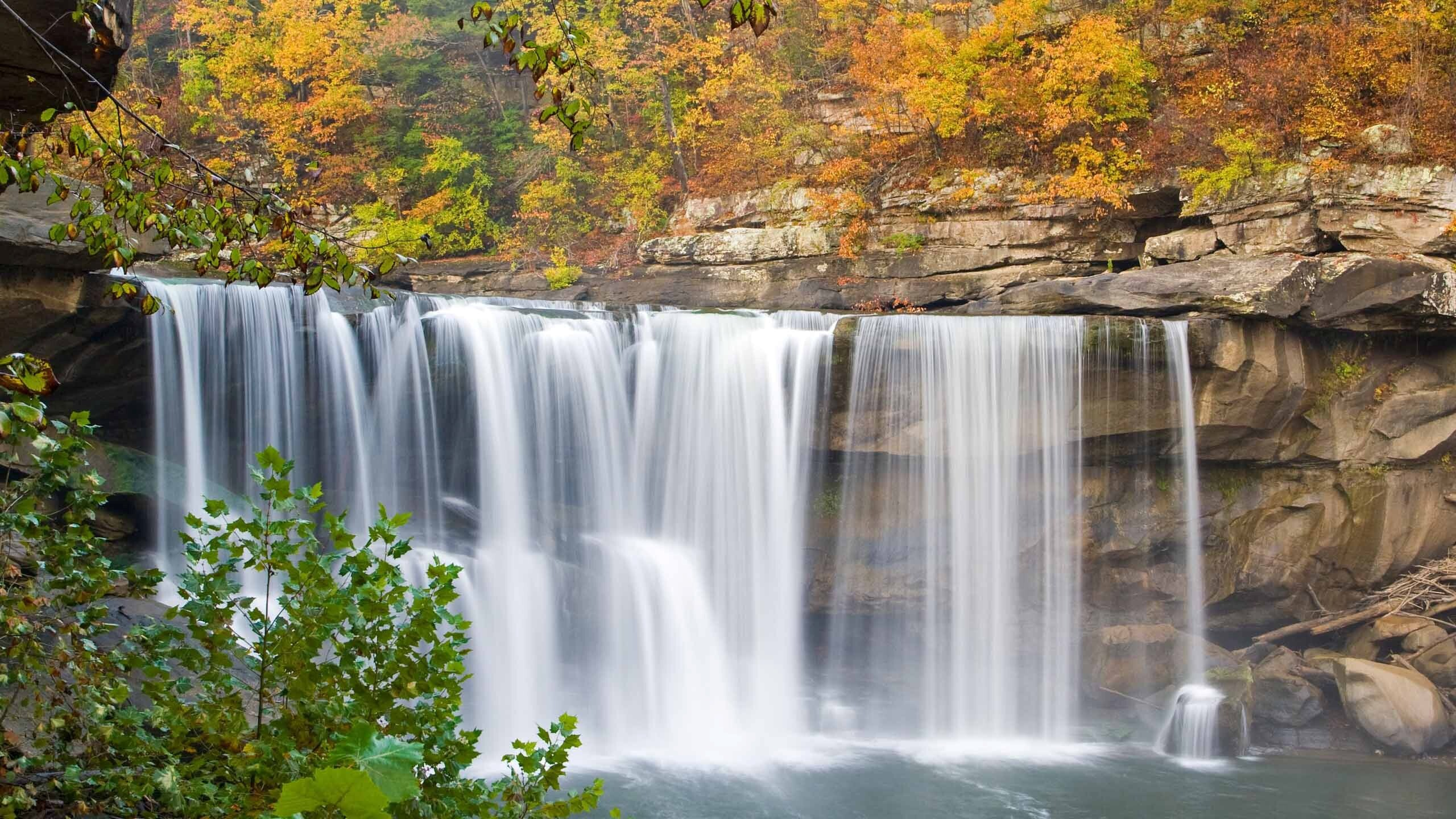Cumberland Waterfall In Kentucky Us Hd Wallpapers
