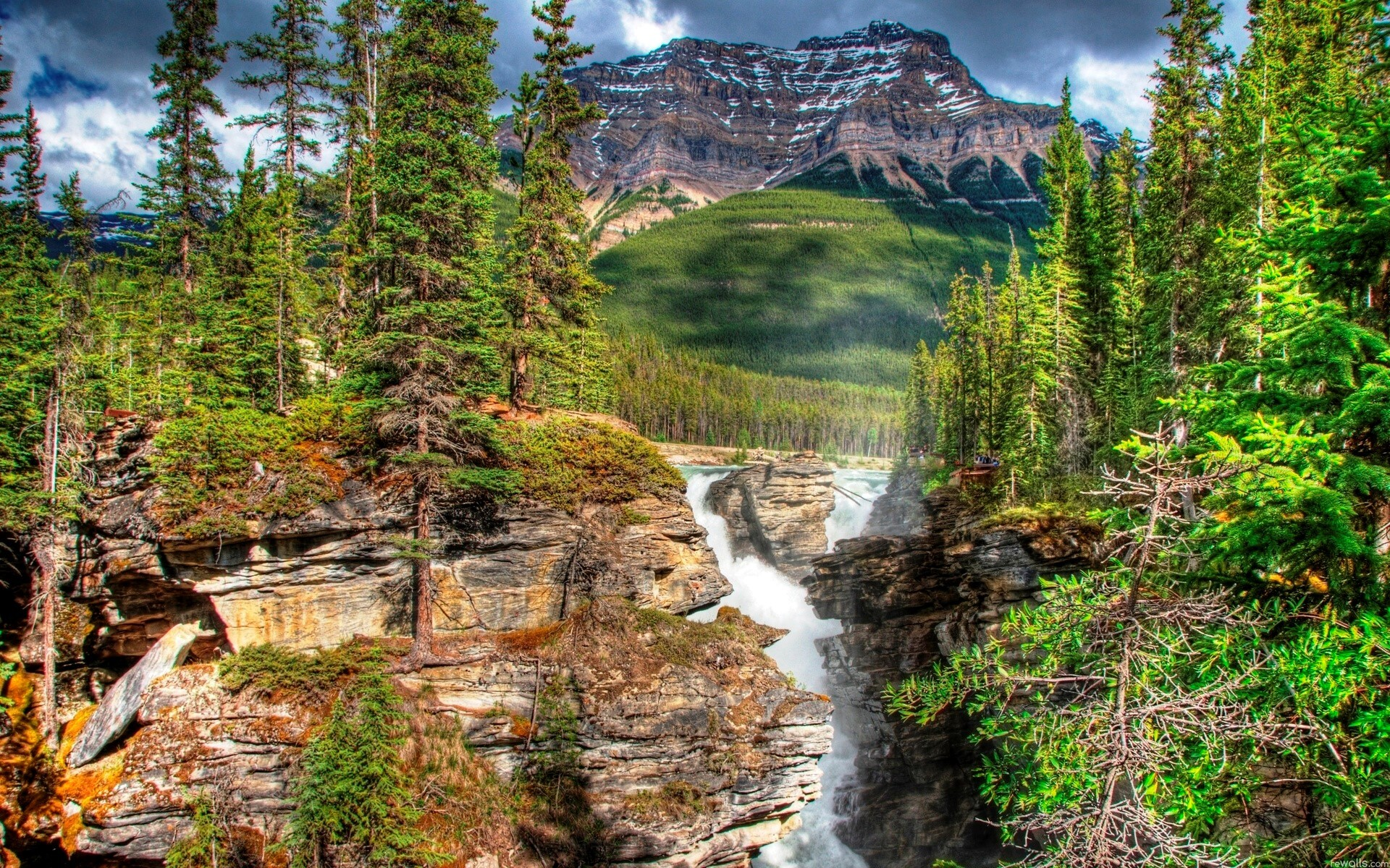 Nice Nature Athabasca Waterfalls Wallpapers