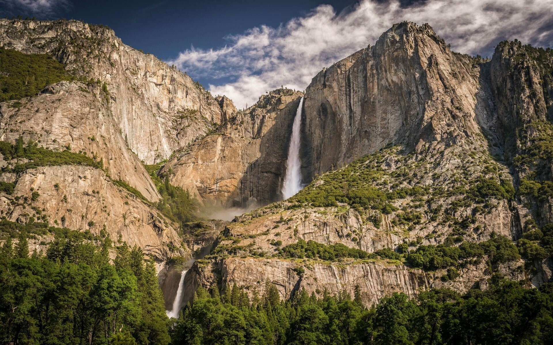 Waterfall in yosemite national park us wallpapers hd - Yosemite national park hd wallpaper ...