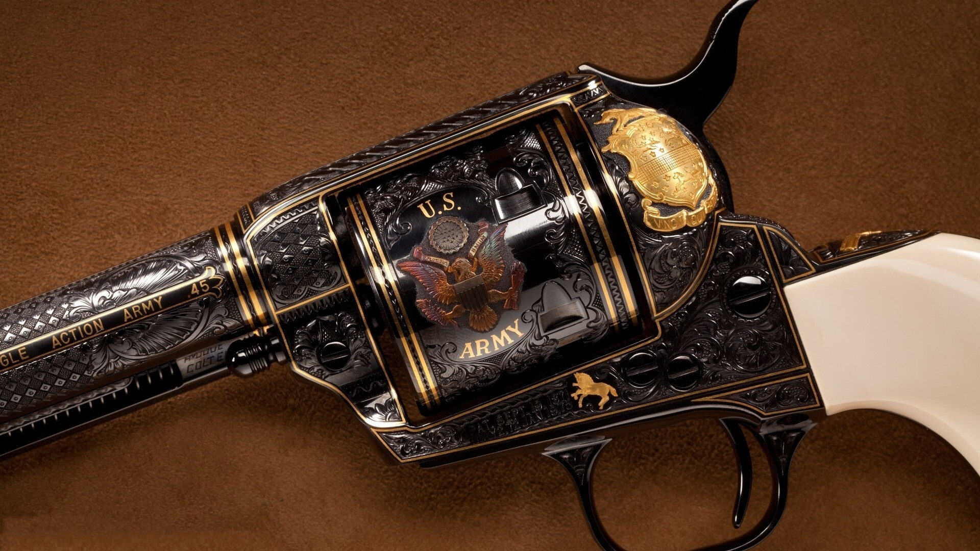 Colt Hand Gun Revolver Hd Desktop Images