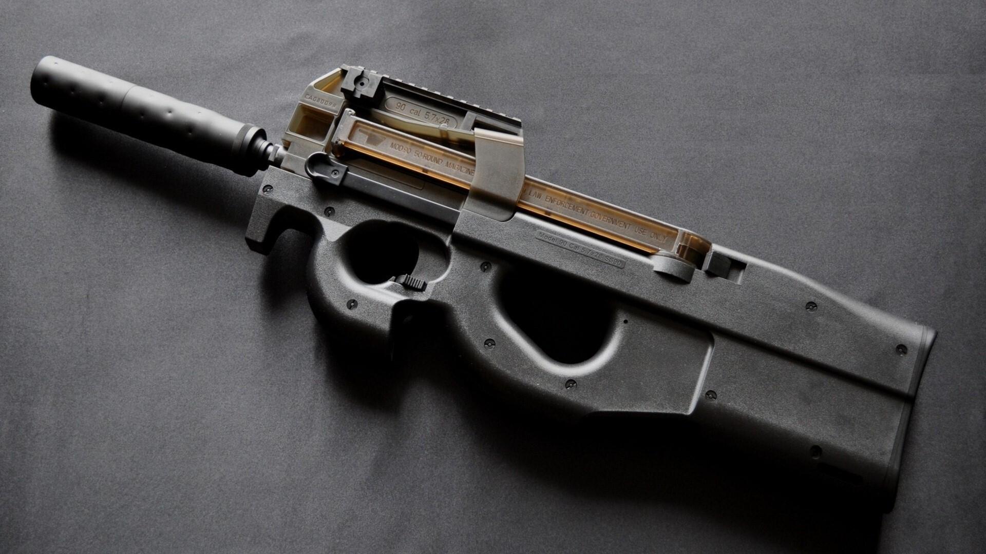 Hd wallpaper gun - 5652 Views 4366 Download Fn P90 Sub Machine Gun Hd Wallpaper