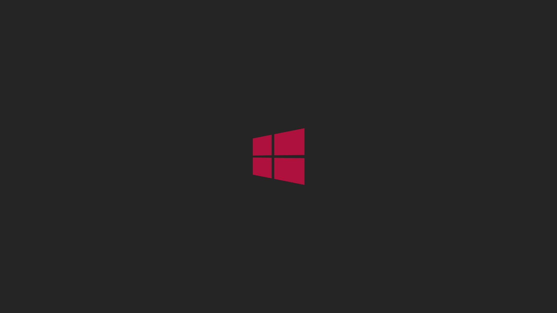 Windows 8 Logo With Red Logo And Black Background Hd Wallpapers